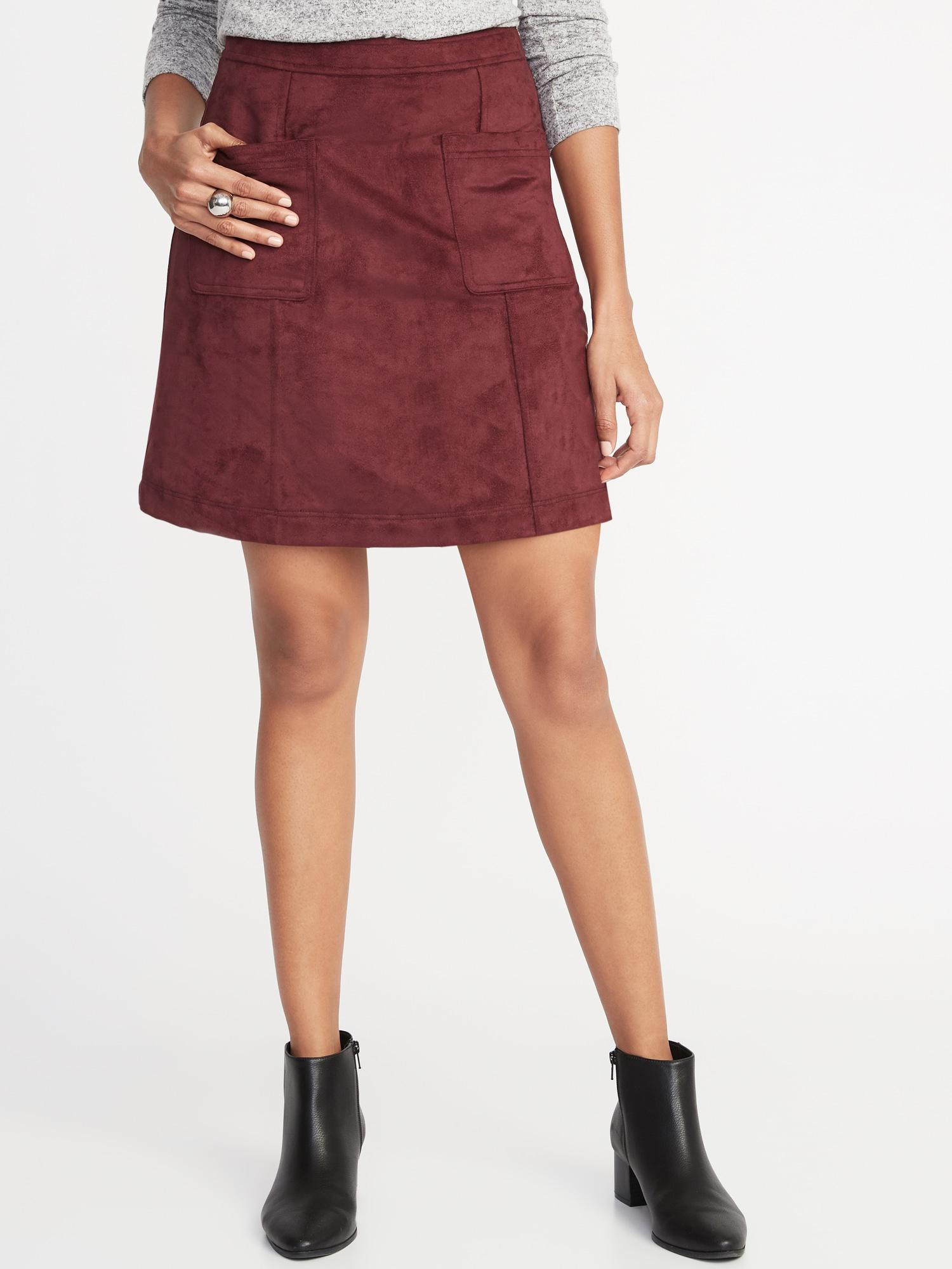 c683d575e Old Navy Faux-suede Utility A-line Mini in Red - Lyst