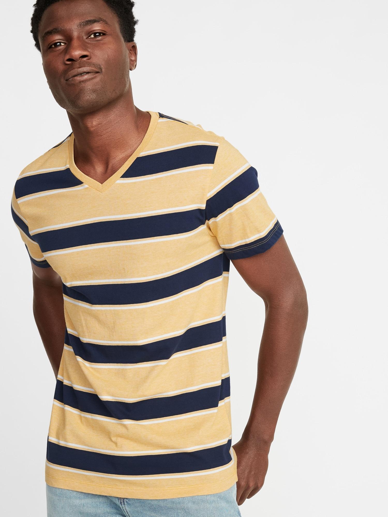 33eba3107 Lyst - Old Navy Soft-washed Striped V-neck Tee for Men