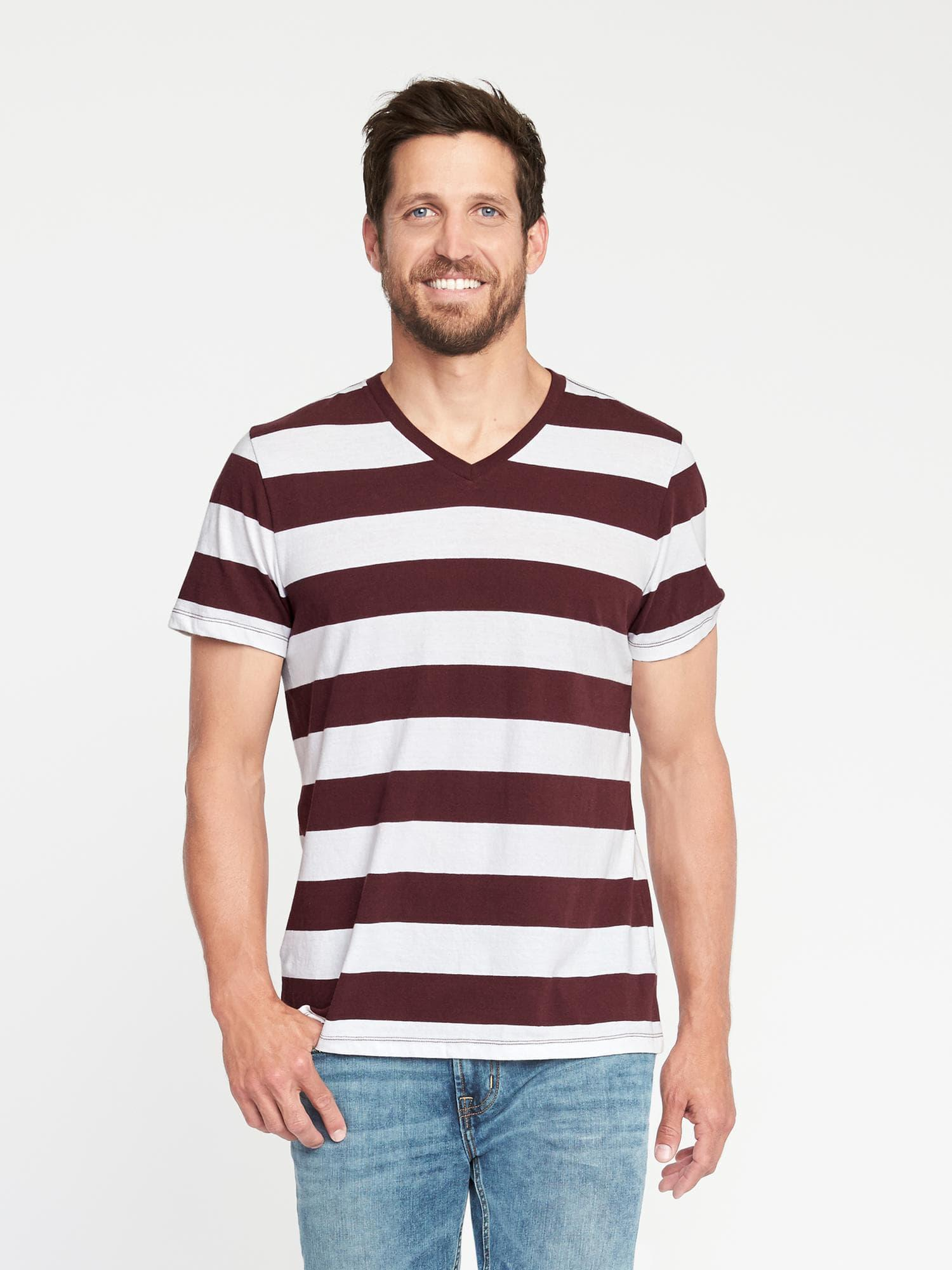 7d519a59e Lyst - Old Navy Soft-washed V-neck Tee in Red for Men