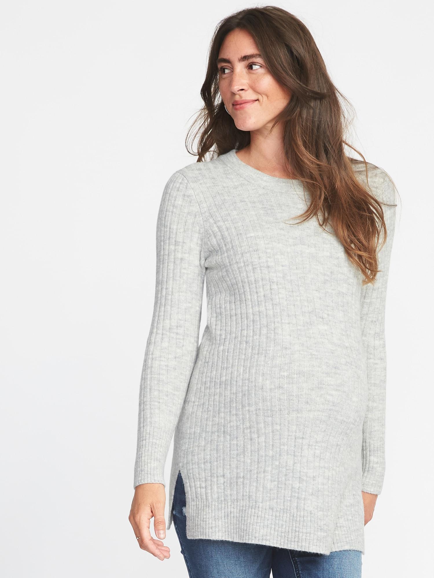 6b7c05d556306 Old Navy Maternity Plush Rib-knit Tunic Sweater in Gray - Lyst