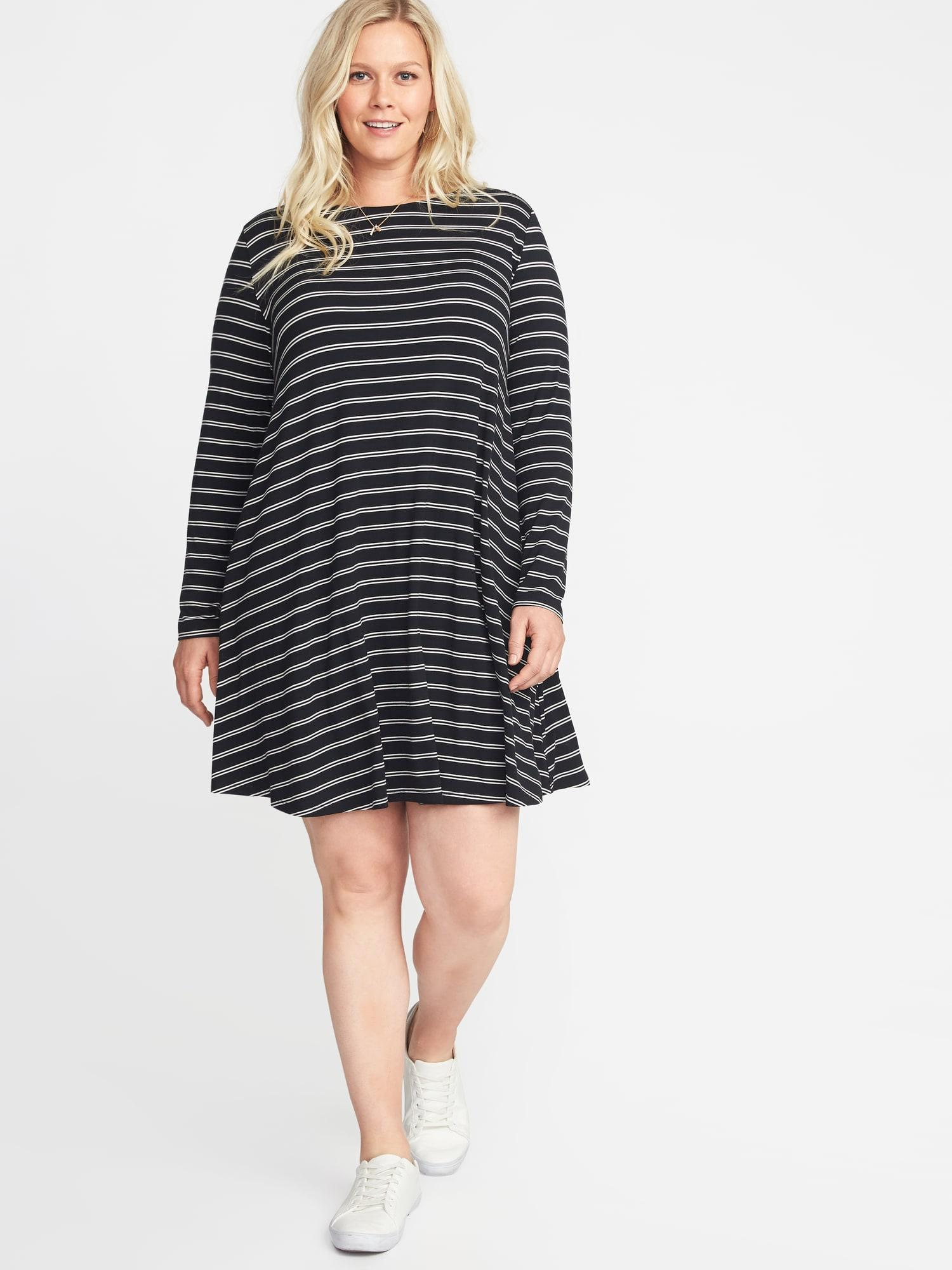 149f5cb9d382 Lyst - Old Navy Plus-size Jersey Swing Dress in Black