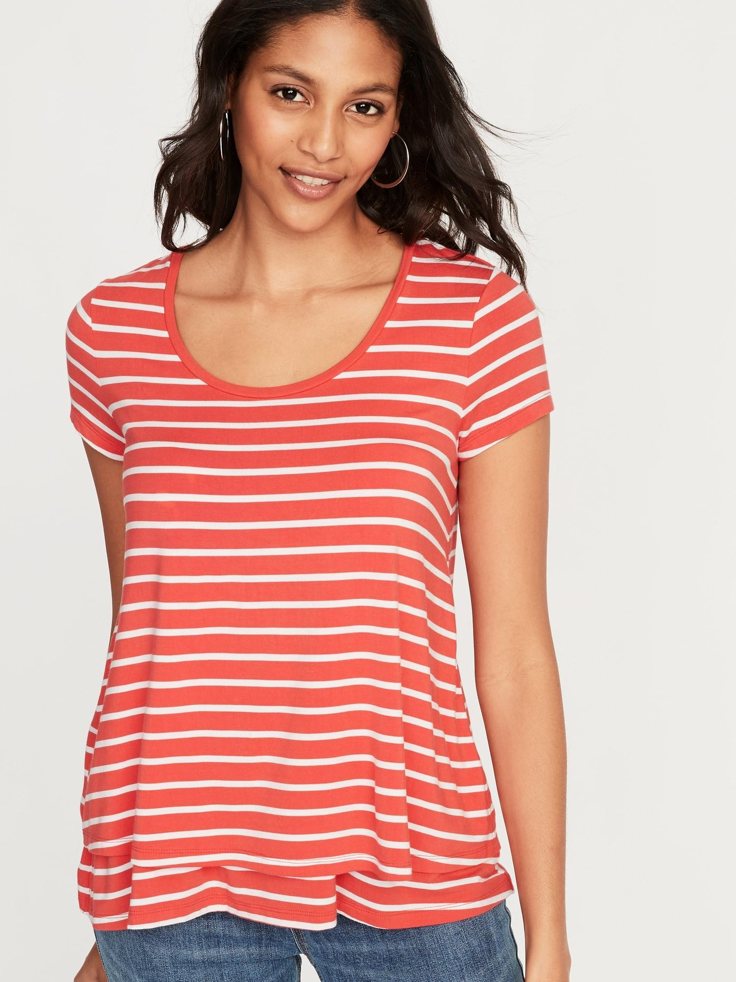 a14dd05fcc2 Lyst - Old Navy Maternity Double-layer Nursing Tee in Red