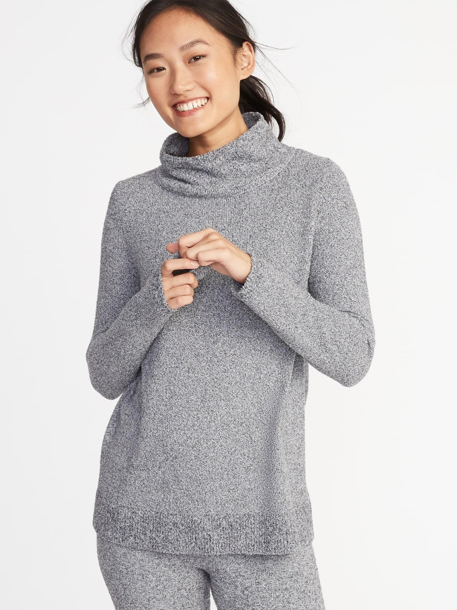 59ba103783 Lyst - Old Navy Mock-neck Sweater-knit Tunic in Gray
