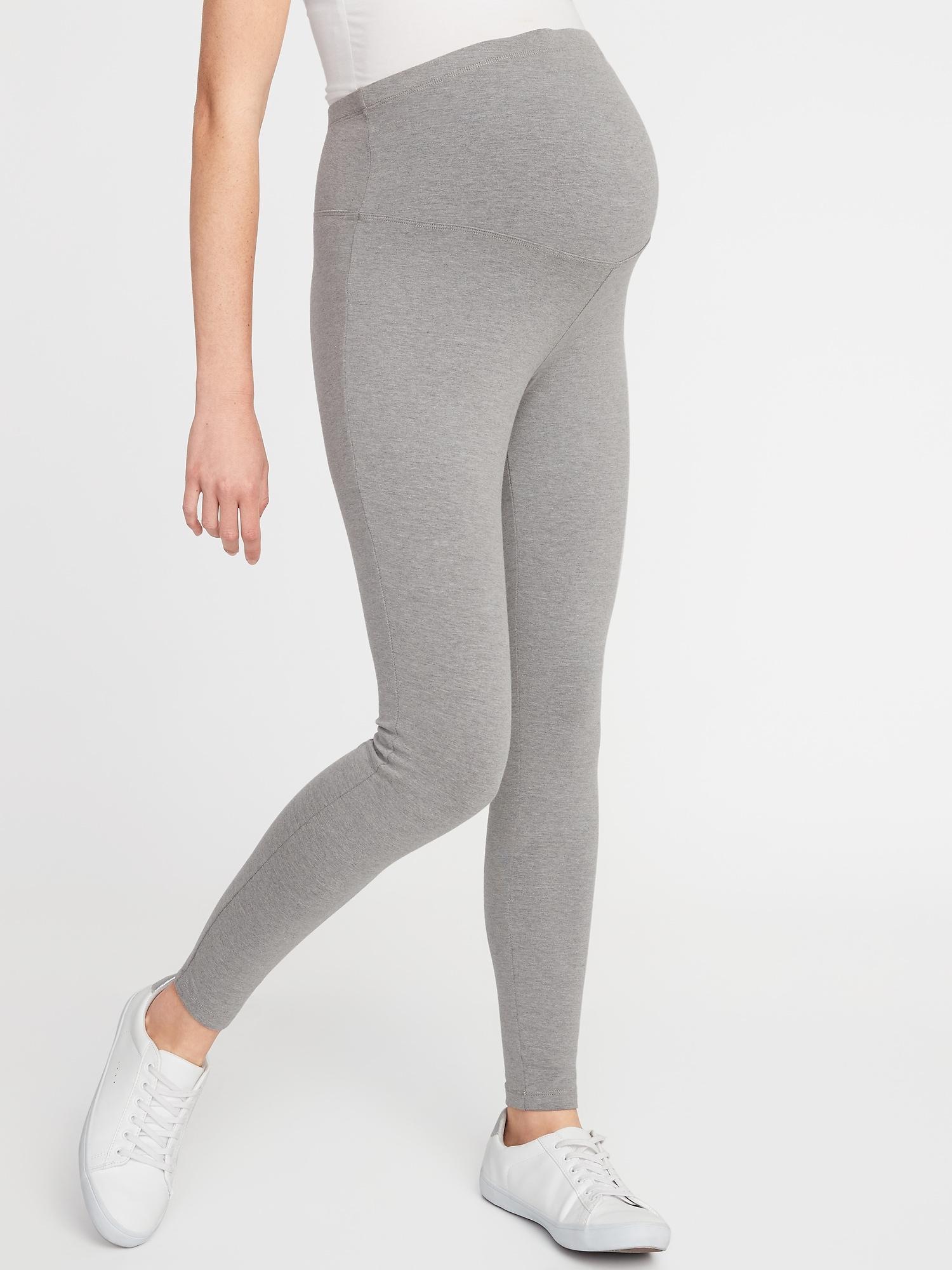 4372bfe5947ed Lyst - Old Navy Maternity Full-panel Jersey Leggings in Gray
