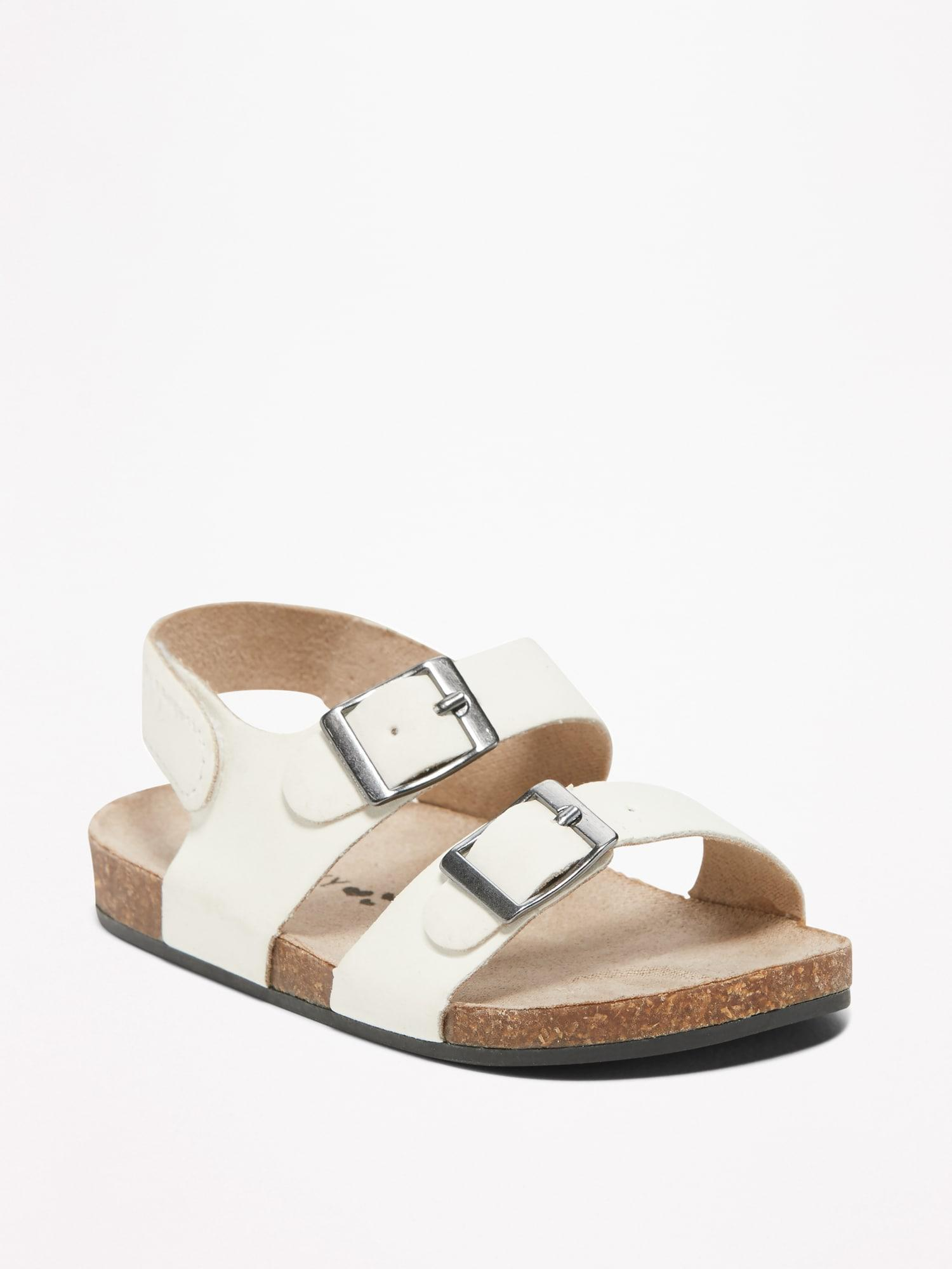 e94be81762 Old Navy - Multicolor Faux-leather Double-buckle Sandals - Lyst