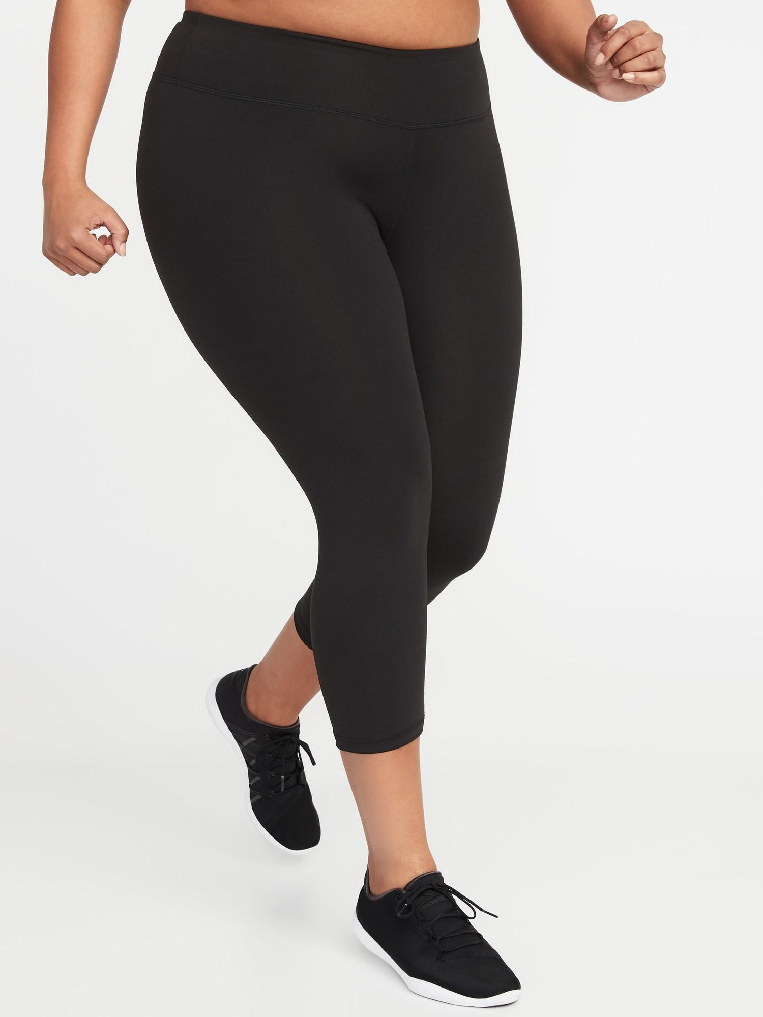 b691ee8995605 Old Navy. Women s Black High-rise Elevate Compression Plus-size Leggings