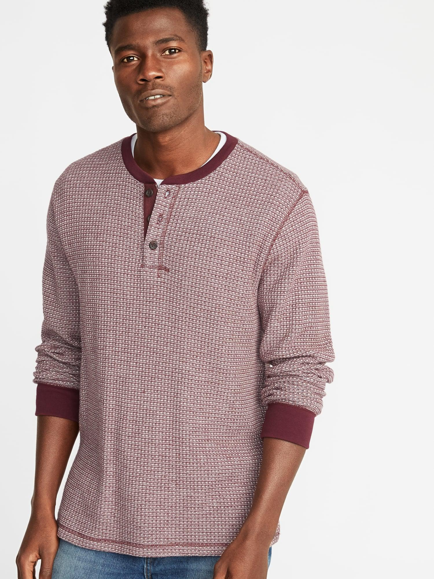 f897ed06 Old Navy Chunky-textured Thermal-knit Henley for Men - Lyst