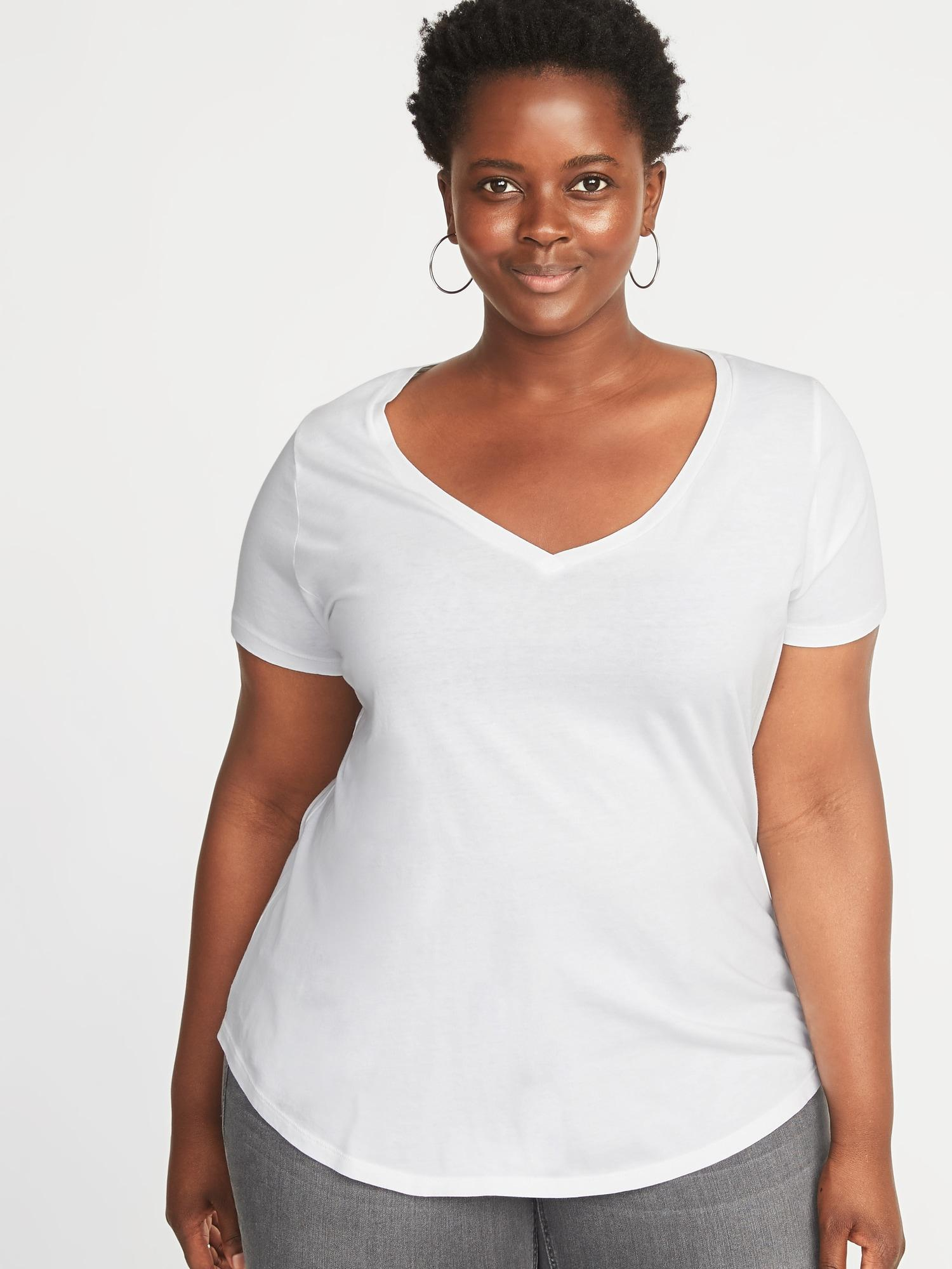 8570b7bd1bf45e Lyst - Old Navy Everywear Plus-size V-neck Tee in White