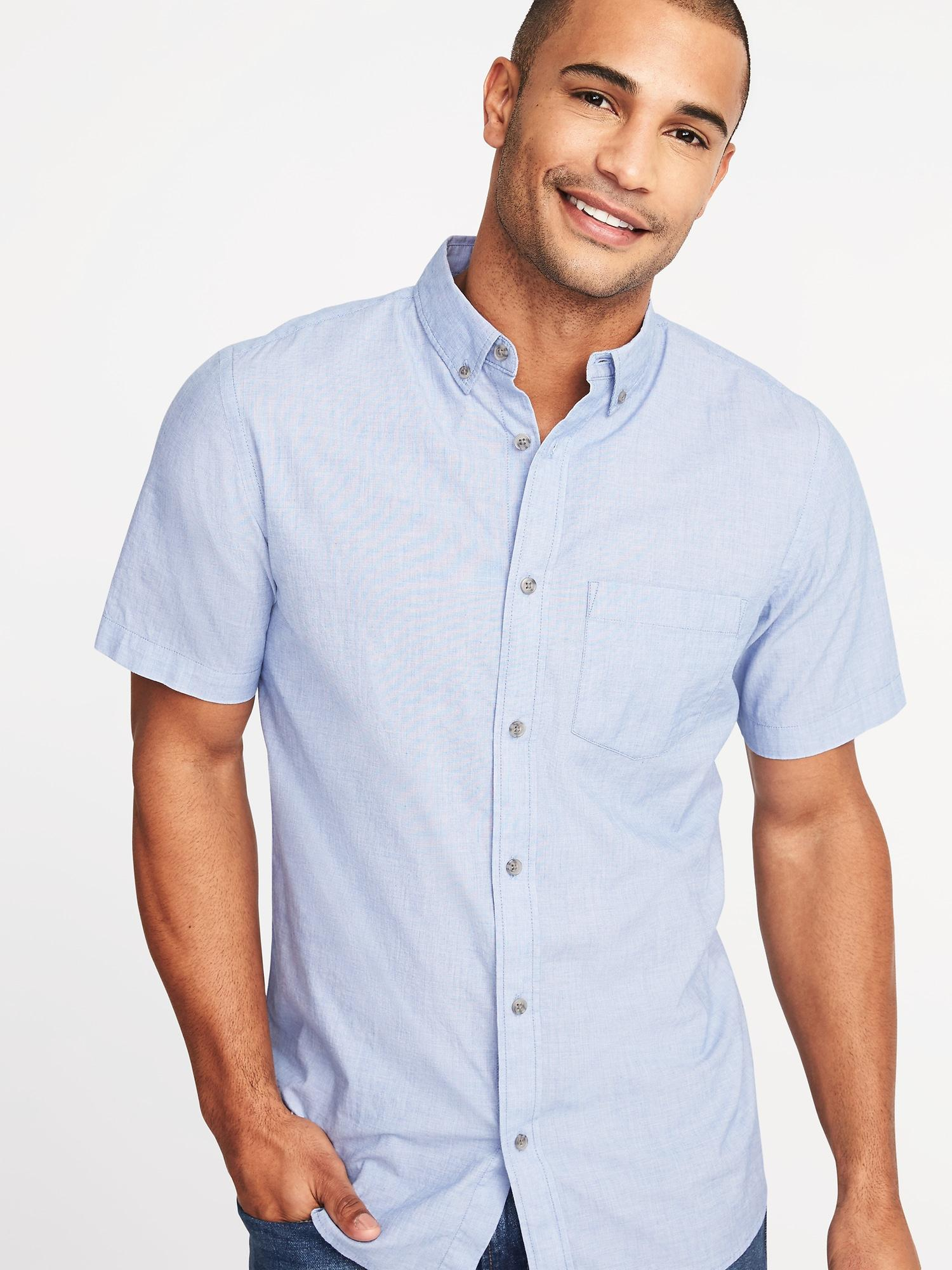 Lyst - Old Navy Slim-fit Built-in Flex Everyday Shirt in Blue for Men 00722494e