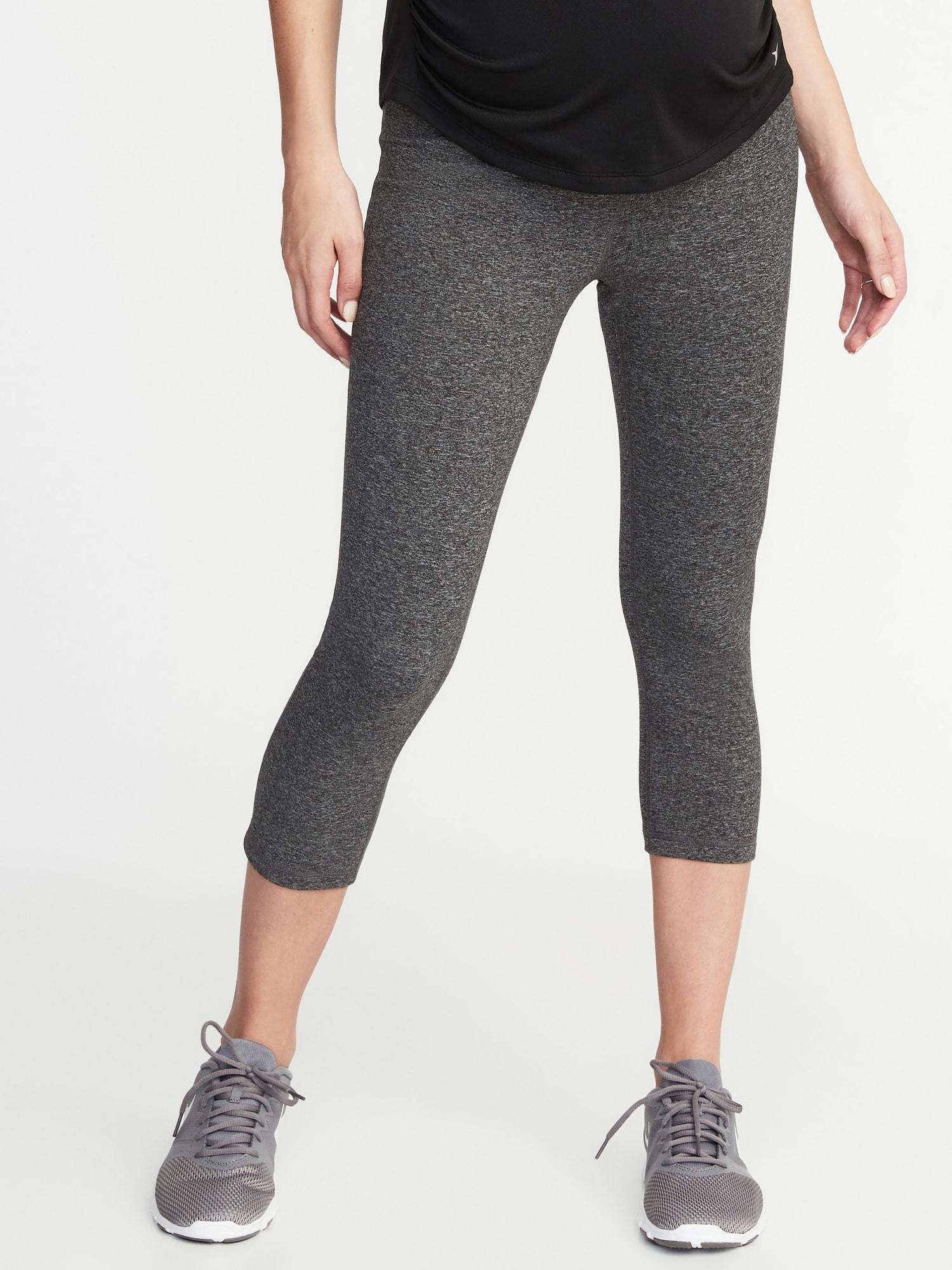 3815cb548005e2 Lyst - Old Navy Maternity High-rise Elevate Compression Crops in Gray