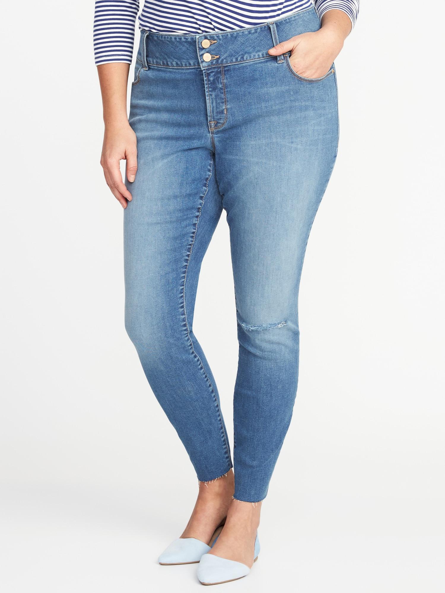 078e416da519f Old Navy. Women s Blue Secret-slim Pockets Plus-size Built-in Sculpt High-rise  Rockstar Jeans