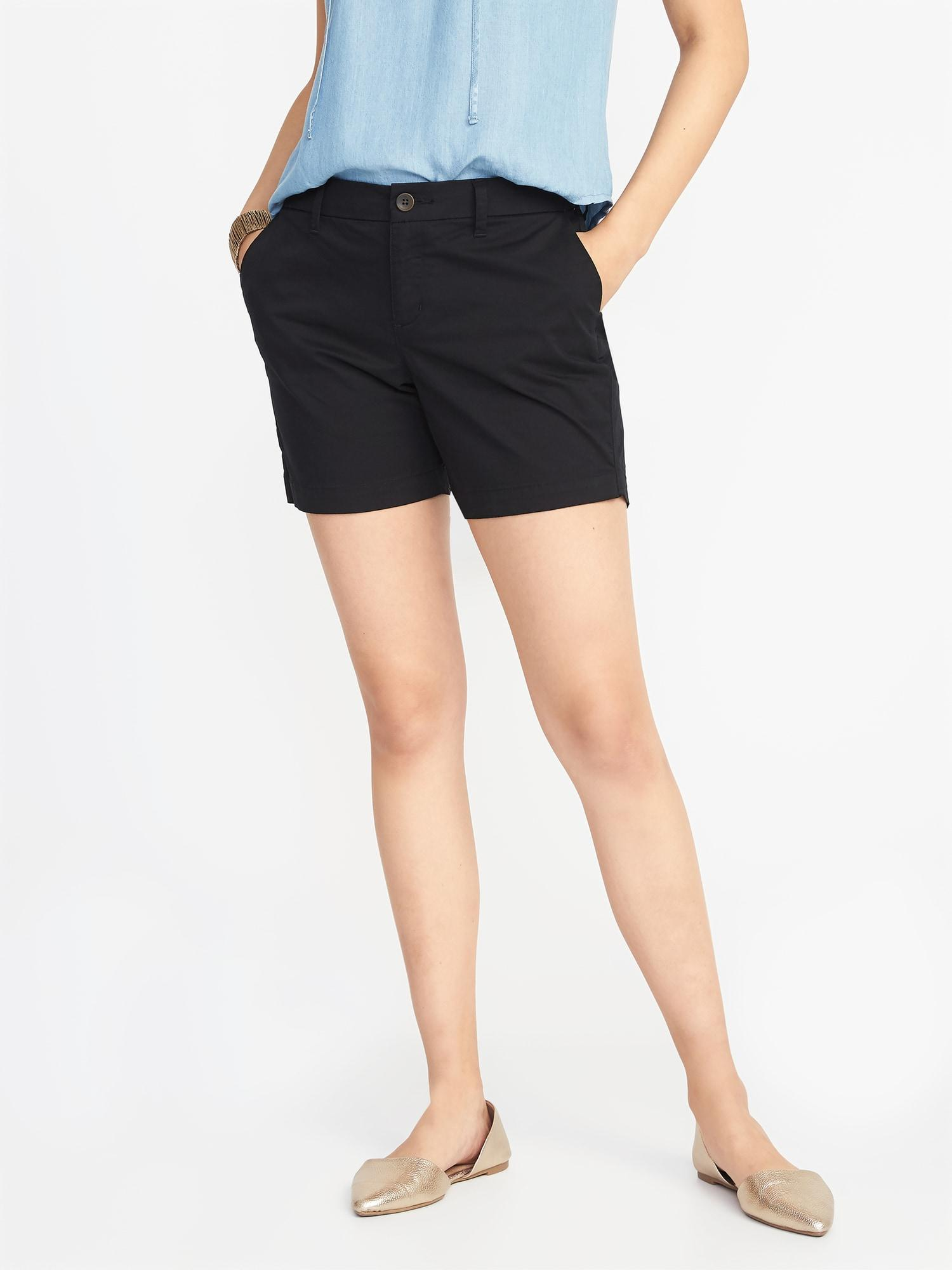 72183f1295 Lyst - Old Navy Mid-rise Everyday Twill Shorts in Black