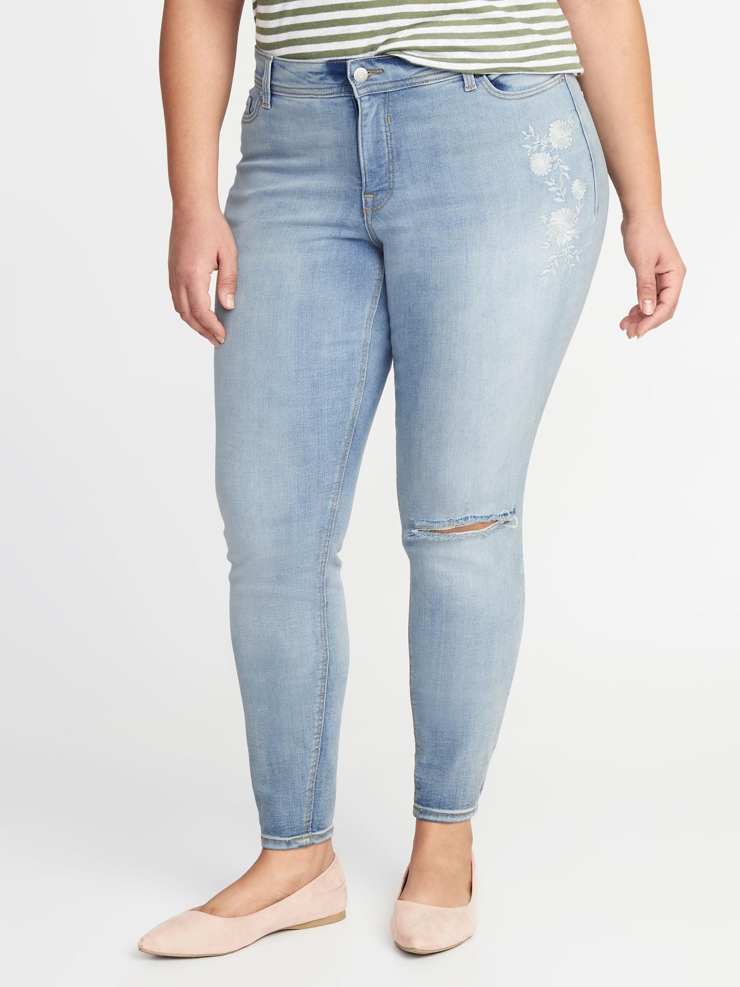 5b1b0300efea Lyst - Old Navy High-rise Secret-slim Pockets Plus-size Super Skinny ...