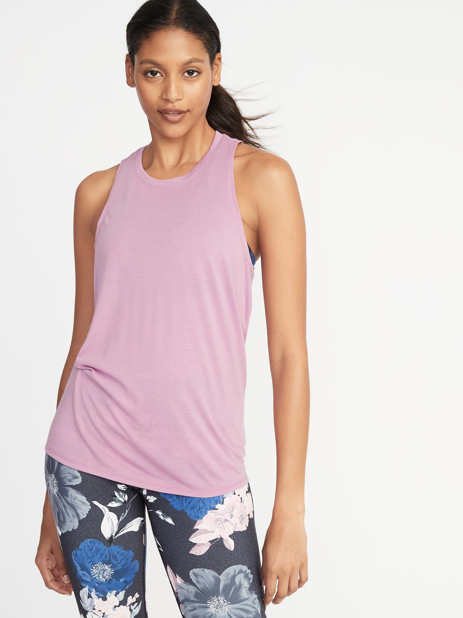 75066d6f85546 Old Navy. Women s Purple Relaxed Lightweight Cross-back Performance Tank