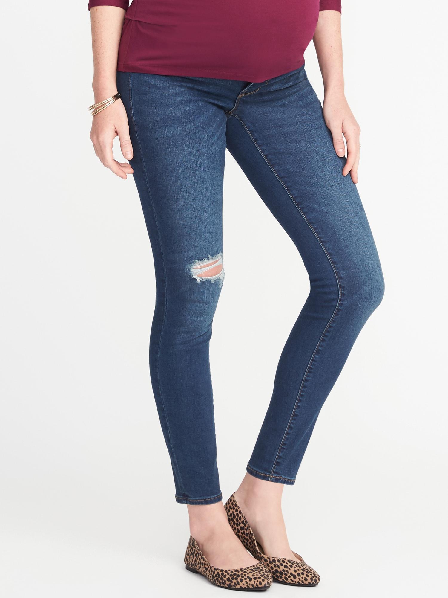 7386dee964ffa Lyst - Old Navy Maternity Side-panel Rockstar Jeans in Blue