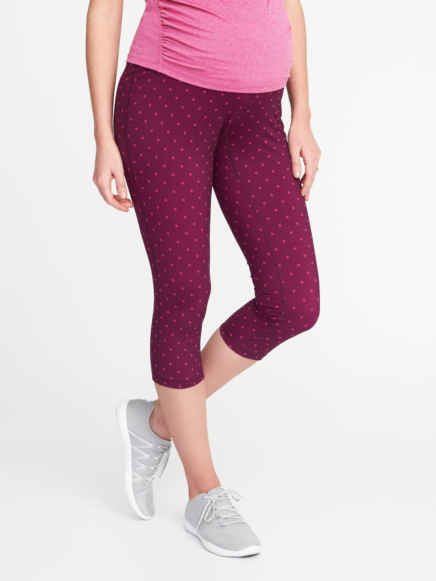 8ab2a848e84546 Lyst - Old Navy Maternity High-rise Compression Crops in Purple