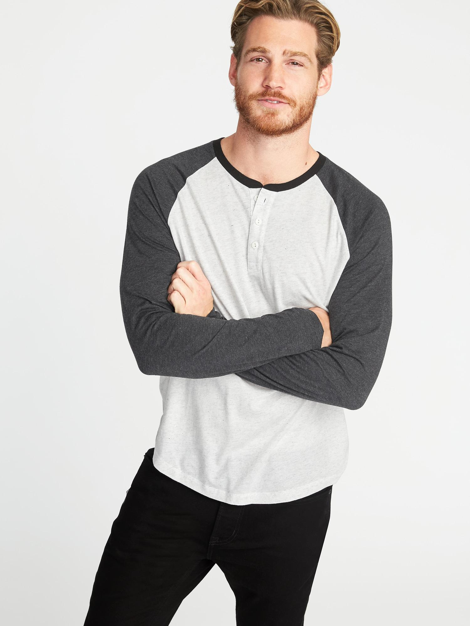 82d40b05 Lyst - Old Navy Soft-washed Raglan-sleeve Henley in White for Men