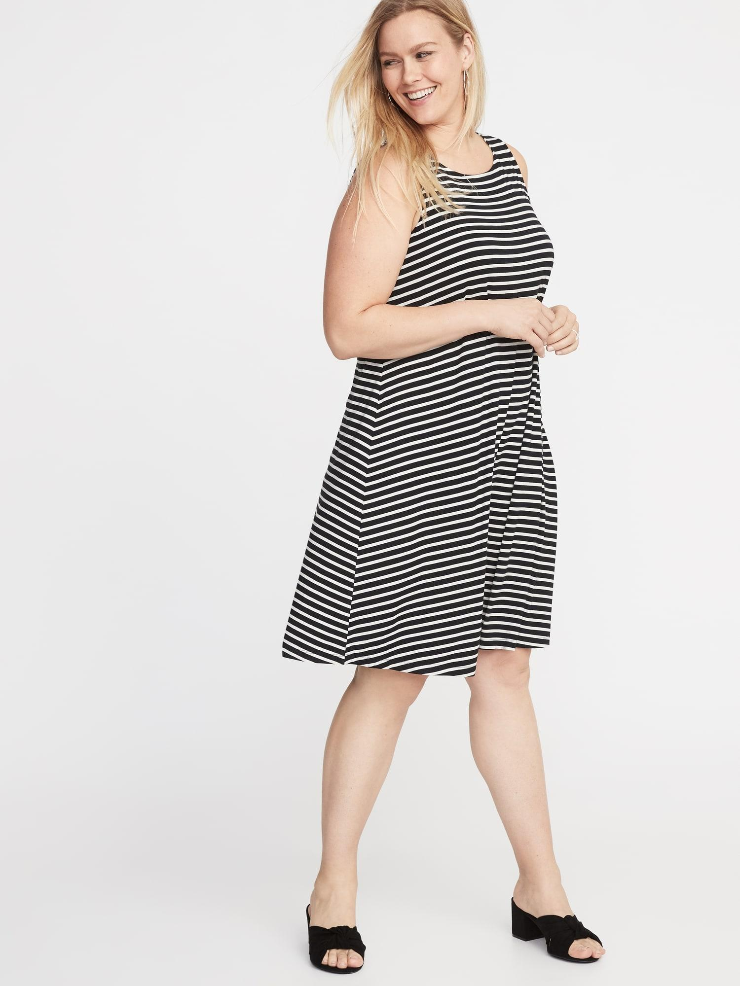 cbb39ca2904e Old Navy Sleeveless Plus-size Jersey Swing Dress in Black - Lyst
