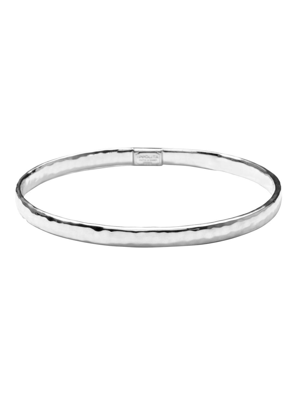 Ippolita Classico Silver Twisted Oval Bangle eoGWL