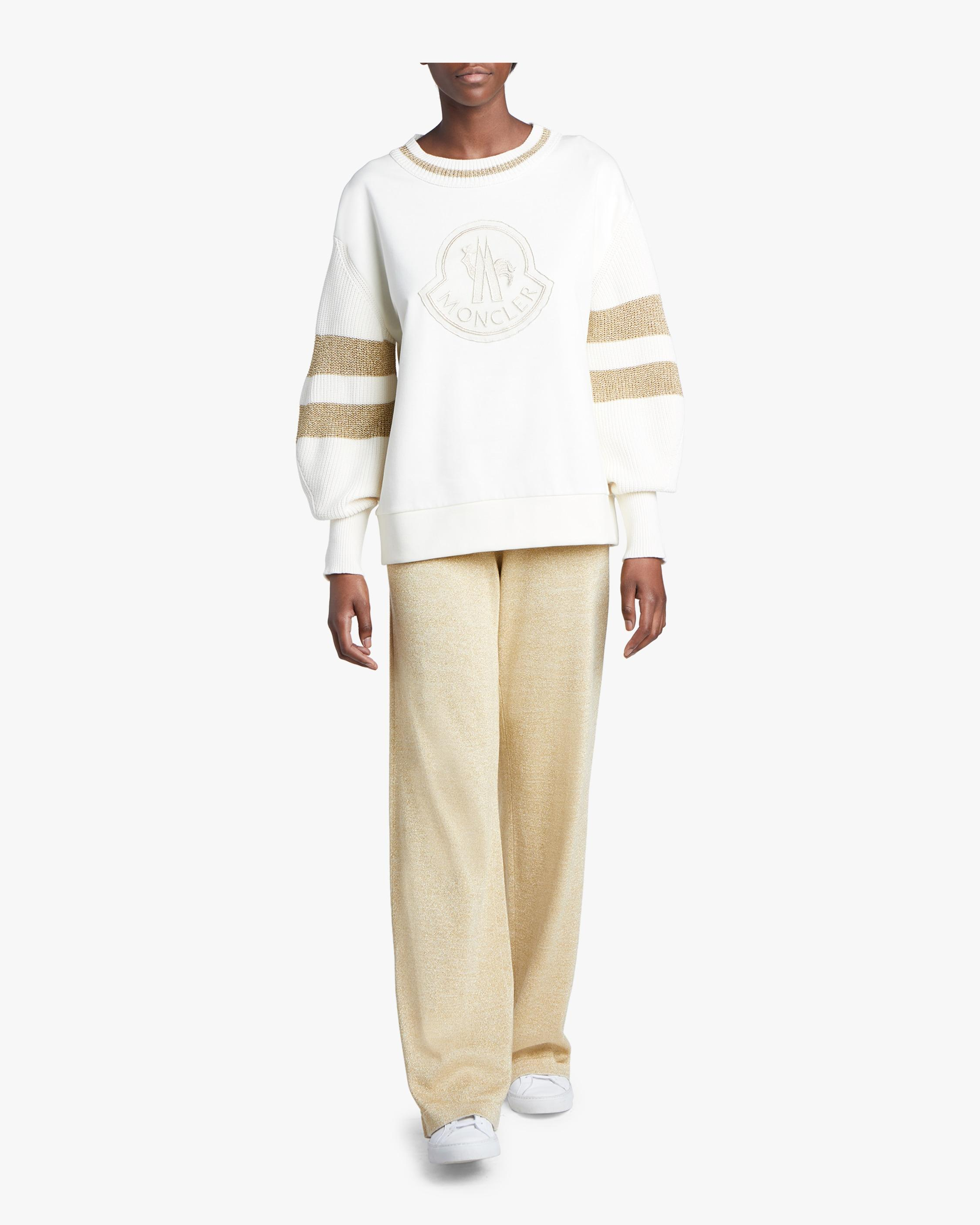 a0065ad0a Lyst - Moncler Pantalone Tricot Pants in Metallic
