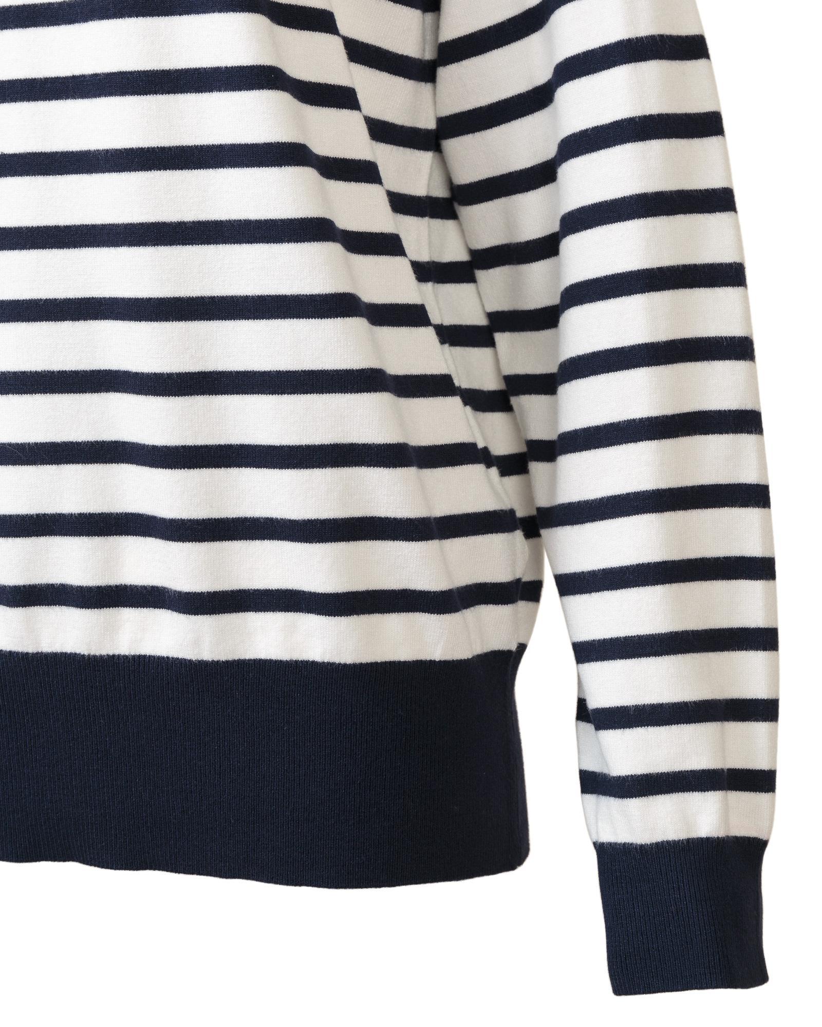 b6563a9b04 Oliver Bonas - Blue Jaimee Breton Navy   White Sweater - Lyst. View  fullscreen