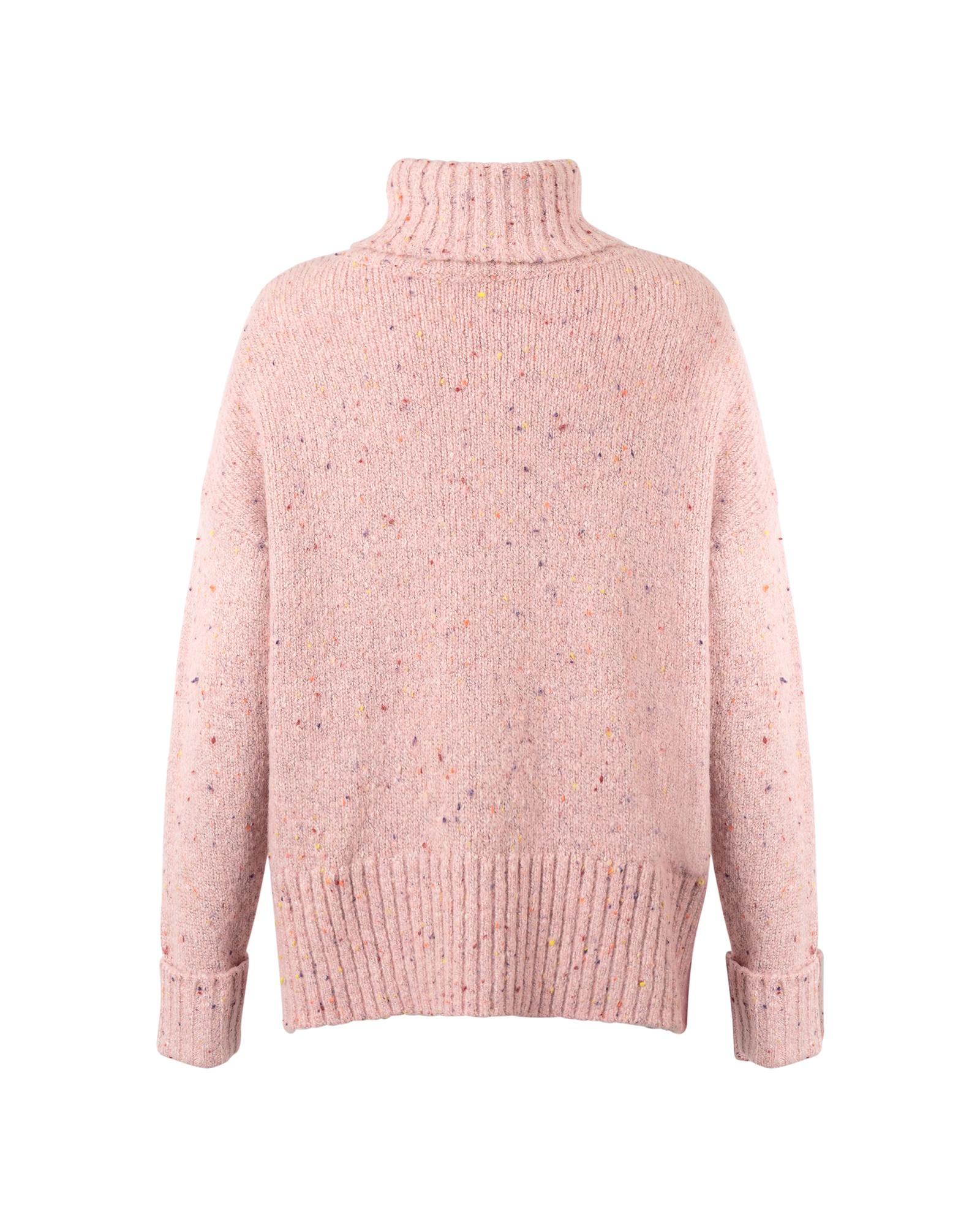 ae12e65c49 Lyst - Oliver Bonas Pepper Pink Nepped Roll Neck Jumper in Pink