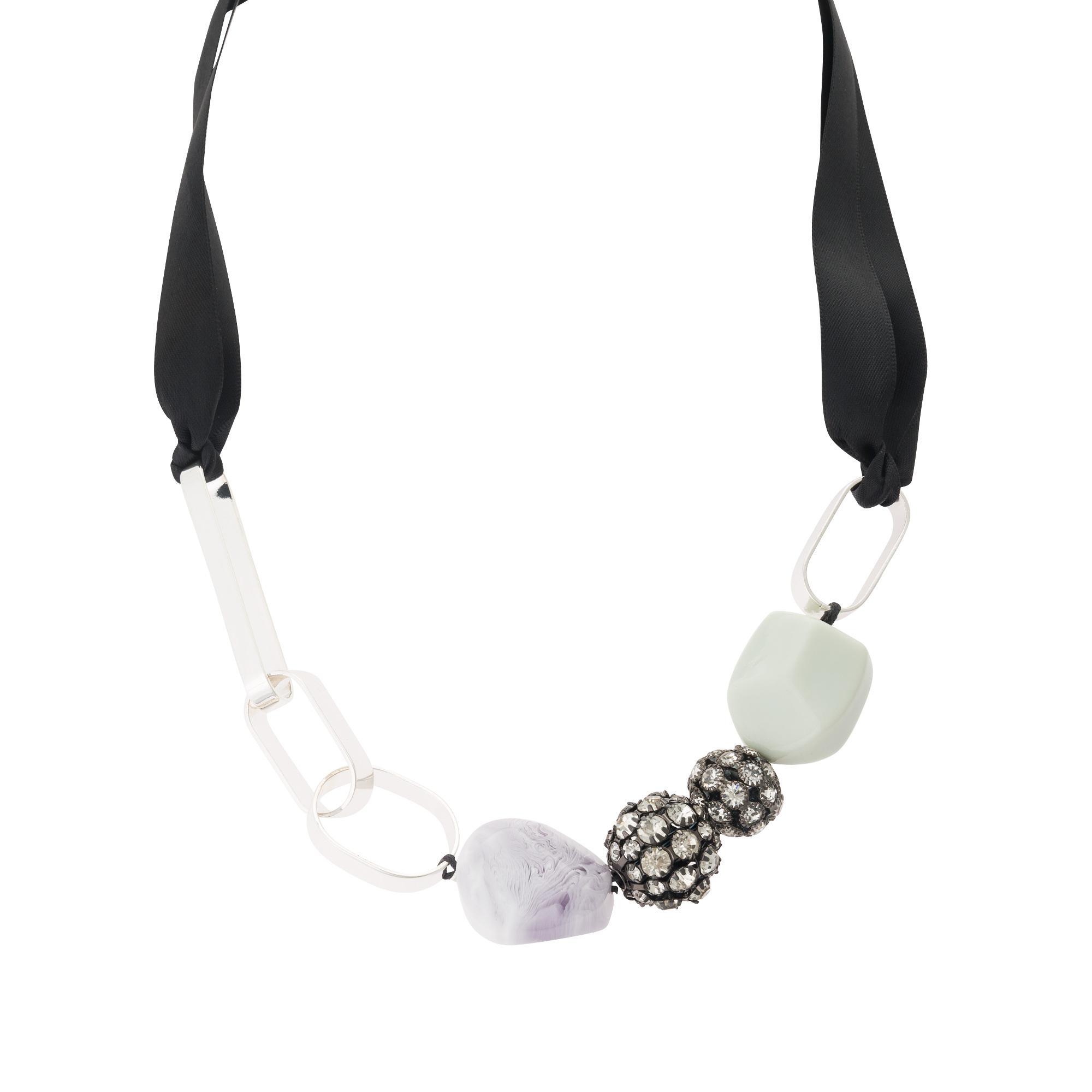 Lyst - Oliver Bonas Cabaret Disco Ball Multi Bead Necklace
