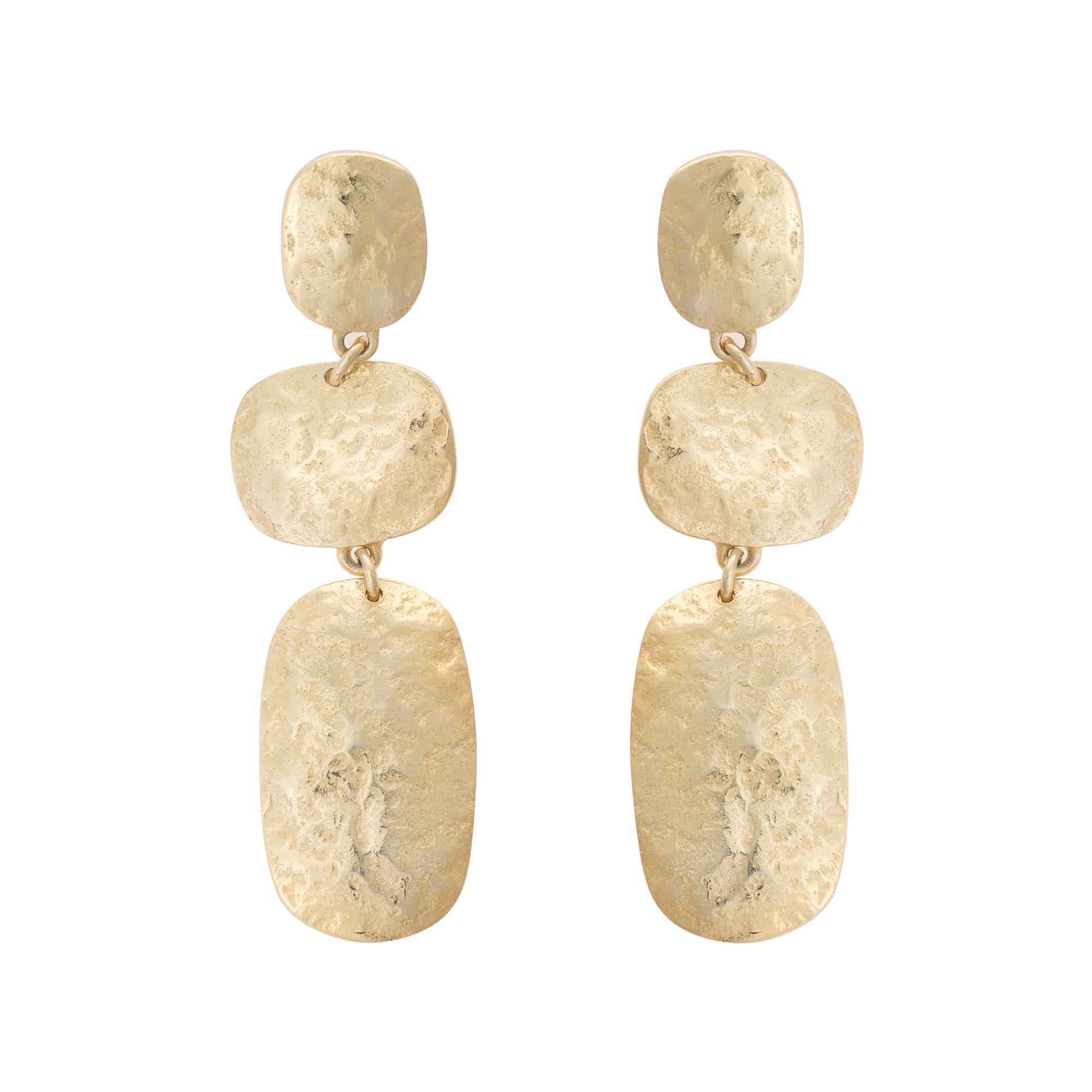 Lyst - Oliver Bonas Elcano Textured Statement Shapes Stud Earrings ...
