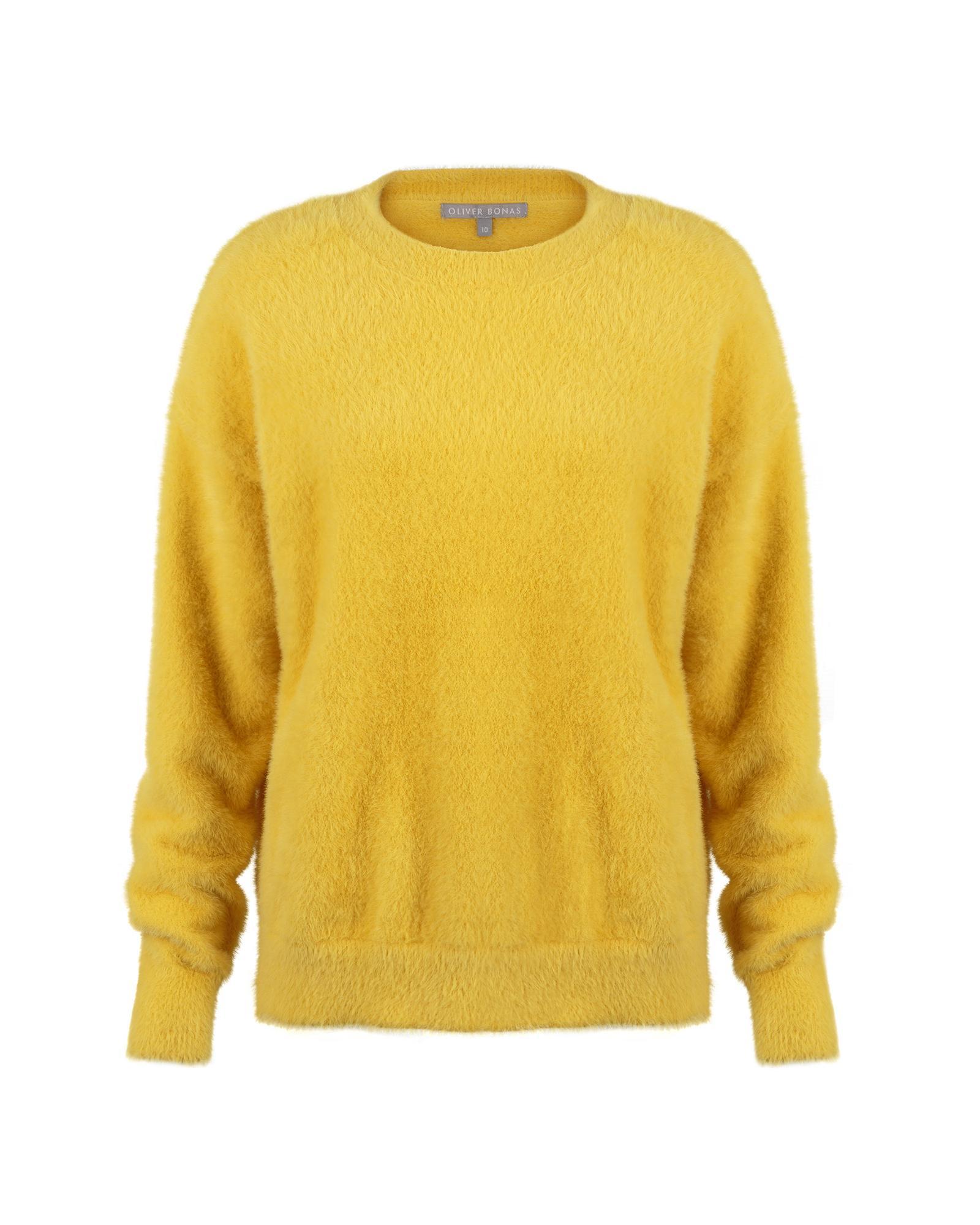 a9a491062e Oliver Bonas - Gloss Fluffy Yellow Sweater - Lyst. View fullscreen