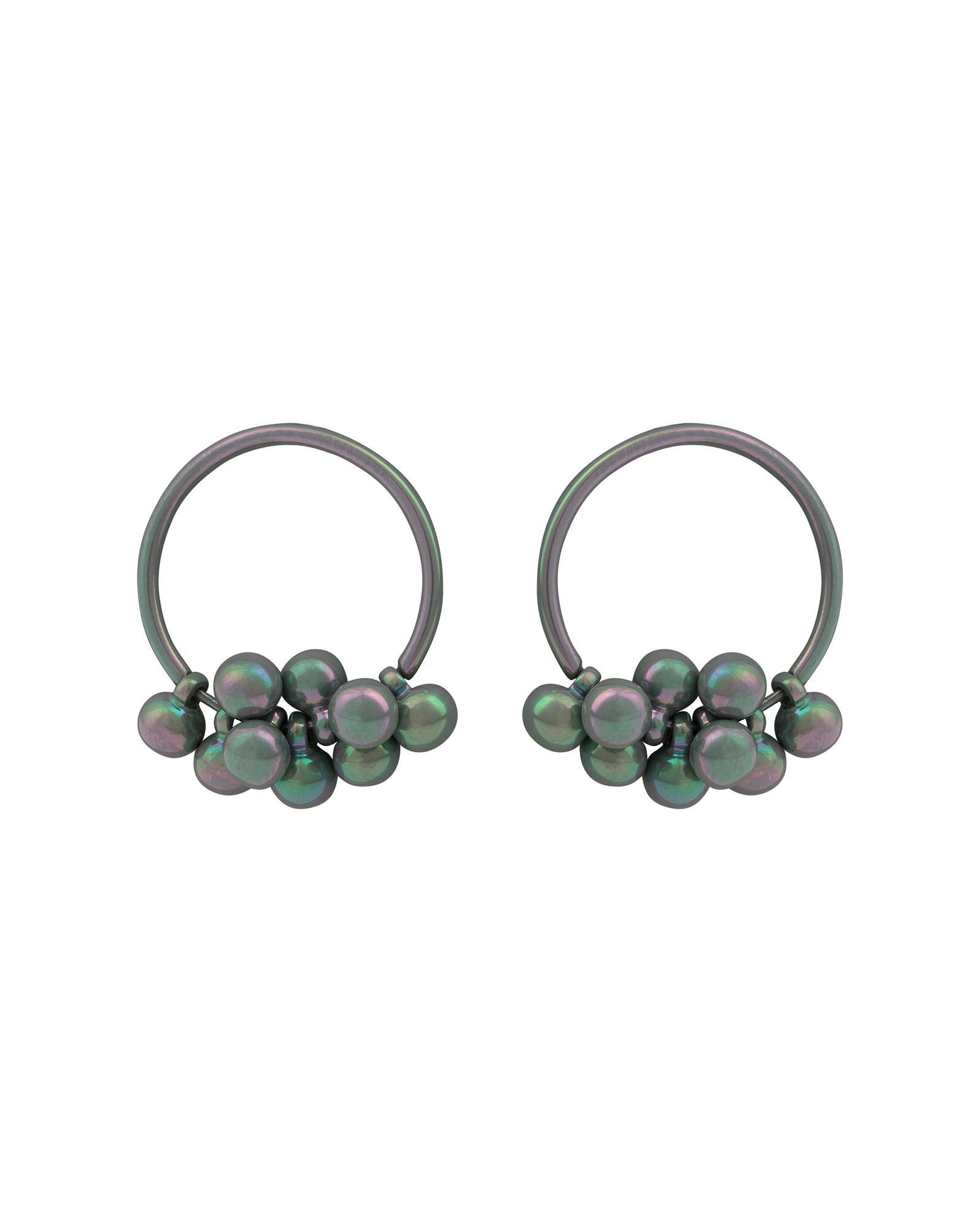 021d4a058 Oliver Bonas. Women's Nima Iridescent Bead & Hoop Earrings