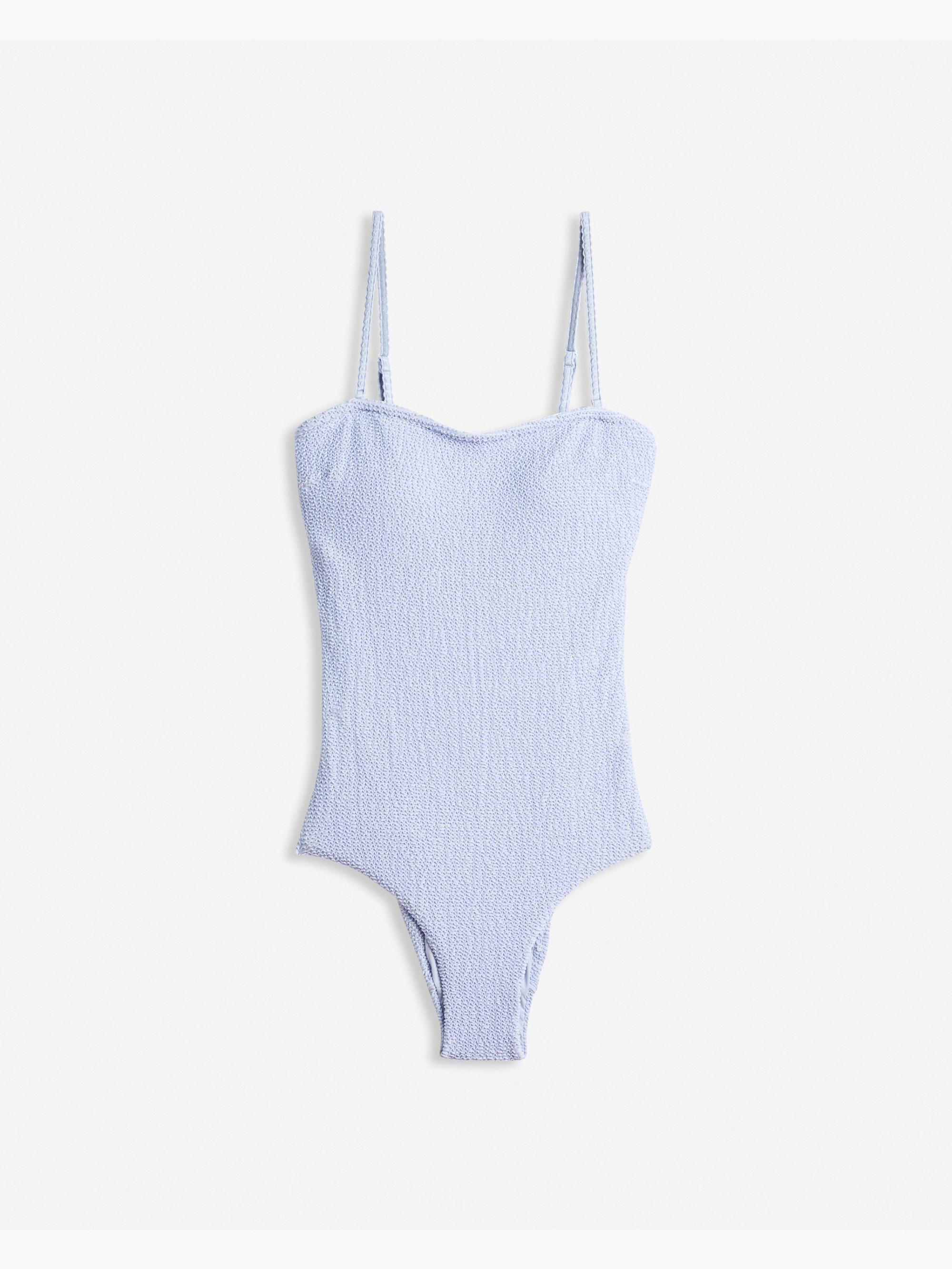eb1e7368dd Onia Estelle Smocking One Piece Swimsuit in Blue - Lyst