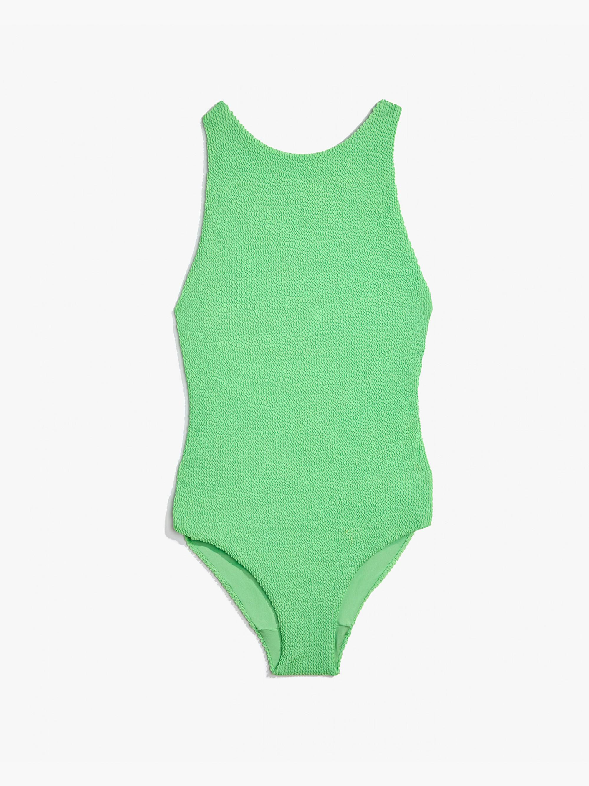 f67d5ba341220 Onia Yvette Smocking One Piece Swimsuit in Green - Lyst