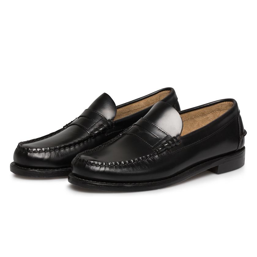 Sebago Classic Black Penny Loafers in Black for Men | Lyst