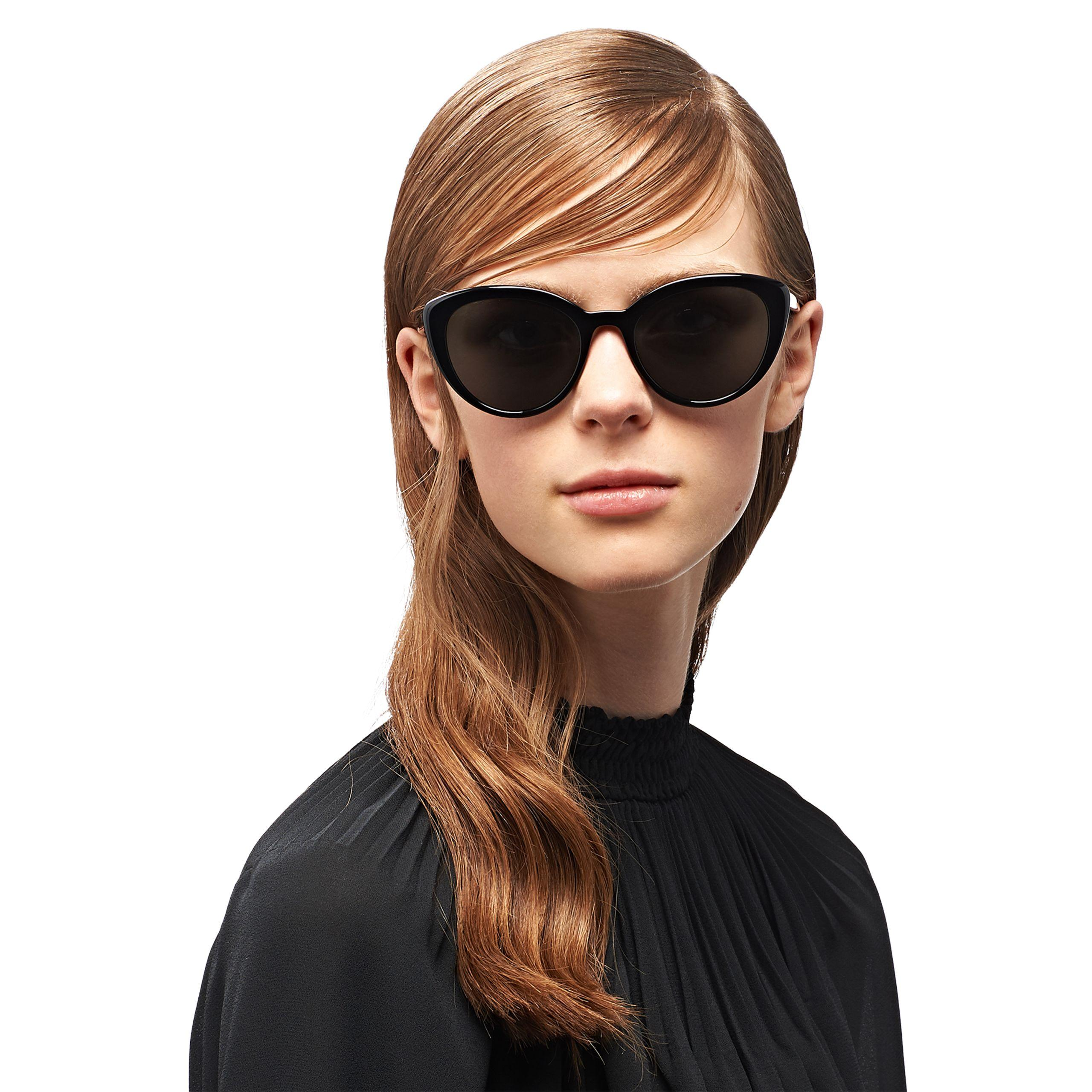 b4b83784bfc Prada - Black Ultravox Sunglasses - Lyst. View fullscreen