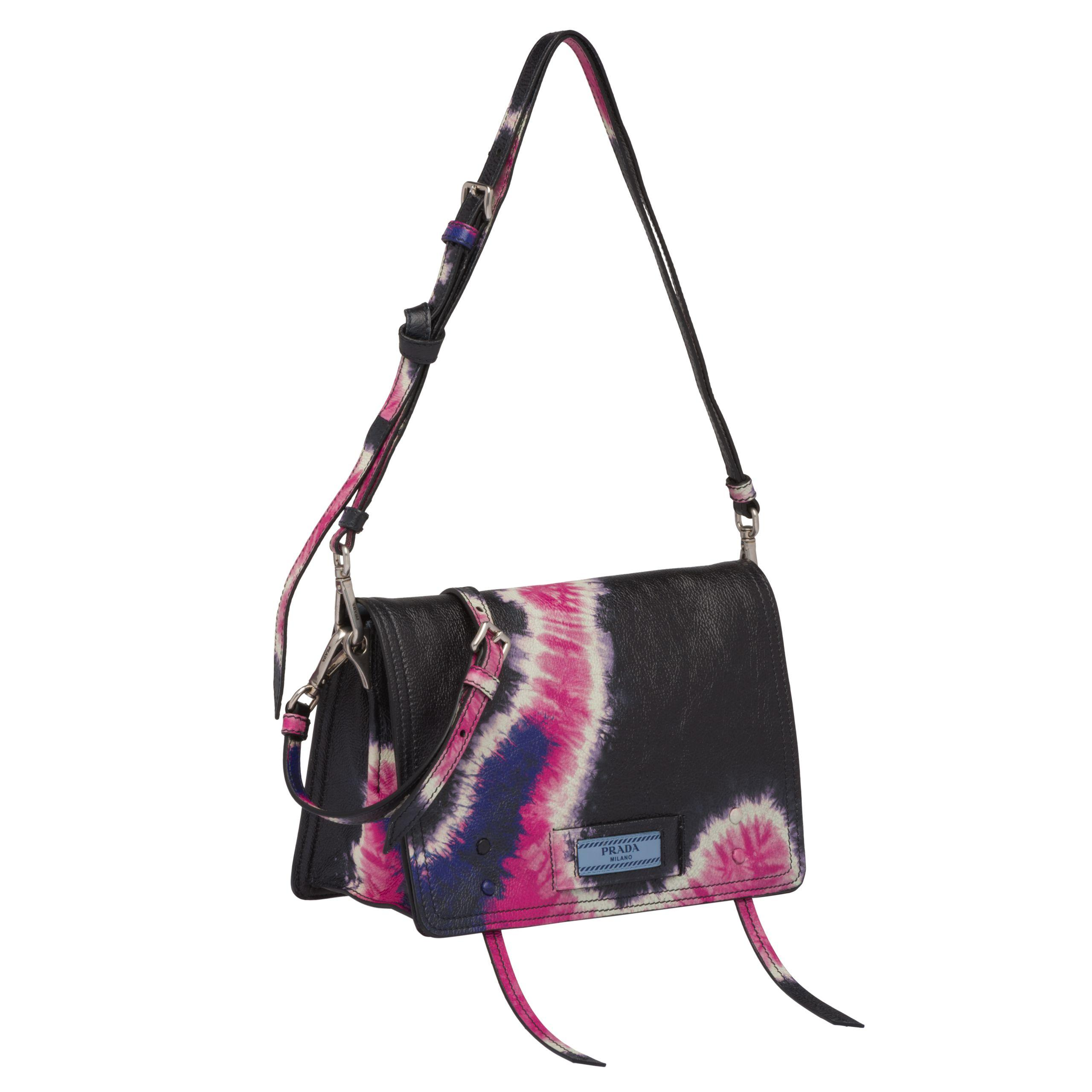 d09885037654 Prada - Multicolor Etiquette Printed Leather Bag - Lyst. View fullscreen