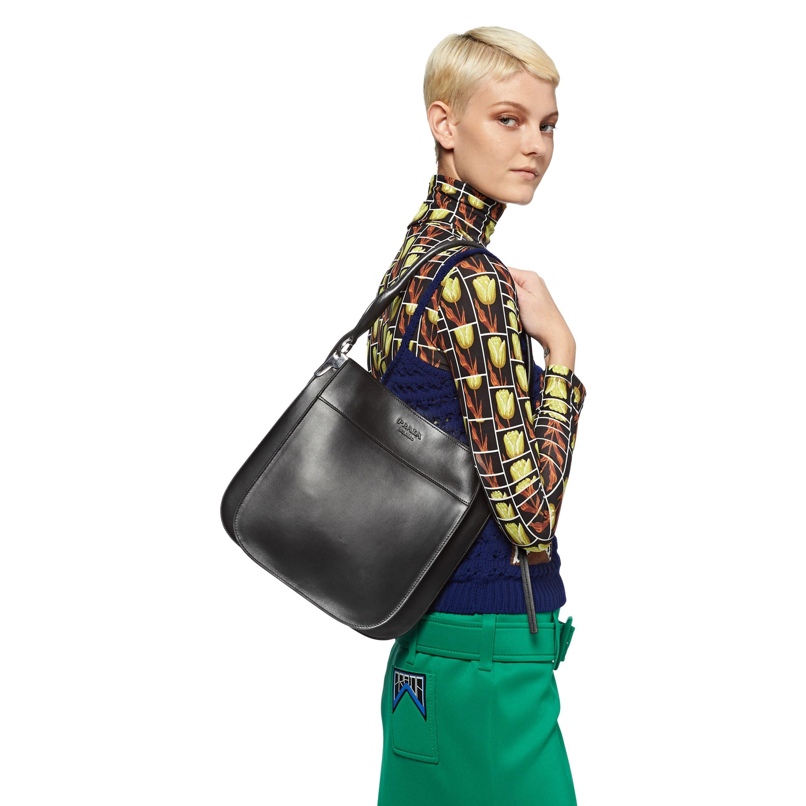 fec57a7ddc Prada - Black Margit Leather Shoulder Bag - Lyst. View fullscreen