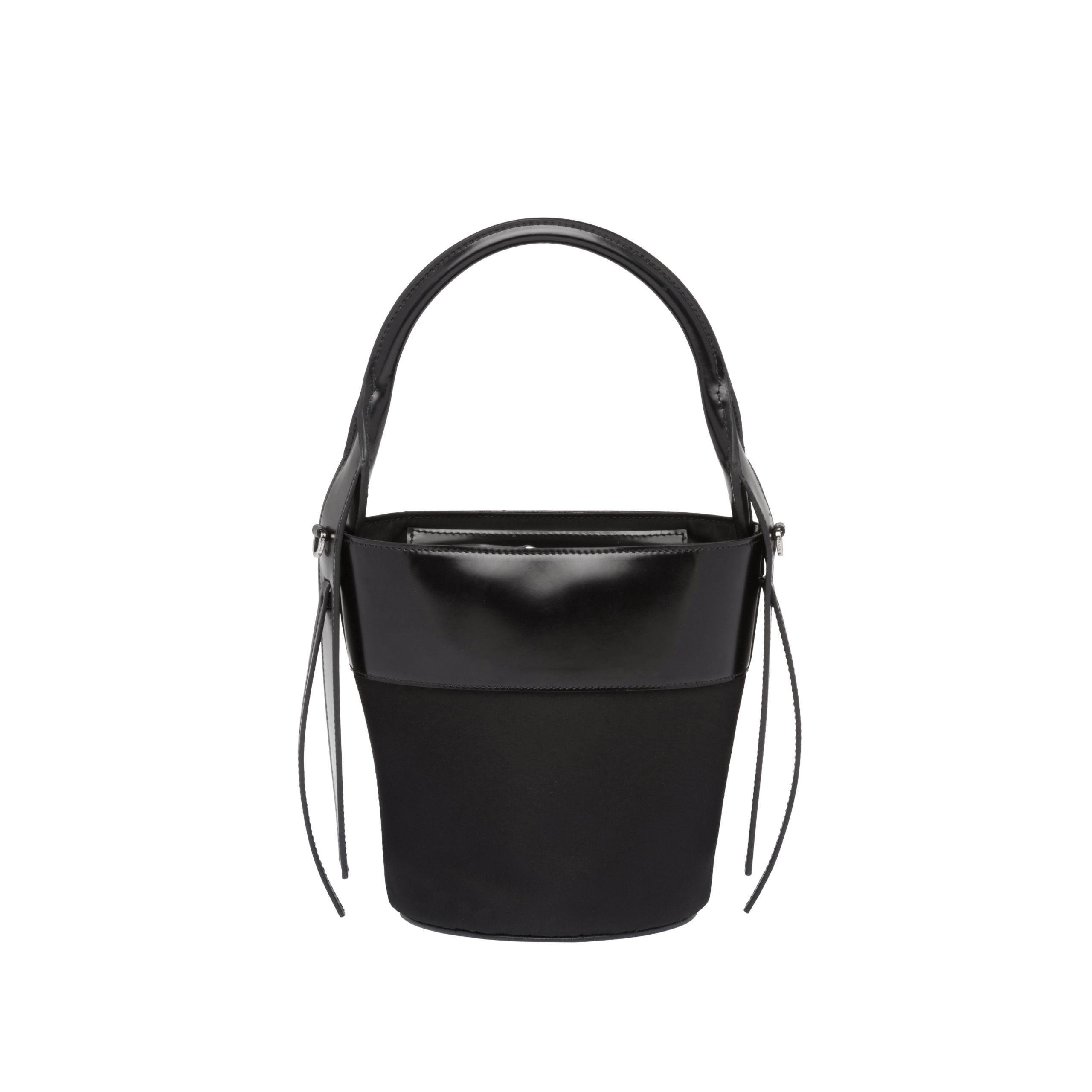 1c61b45c53 Lyst - Prada Ouverture Nylon Bucket Bag in Black