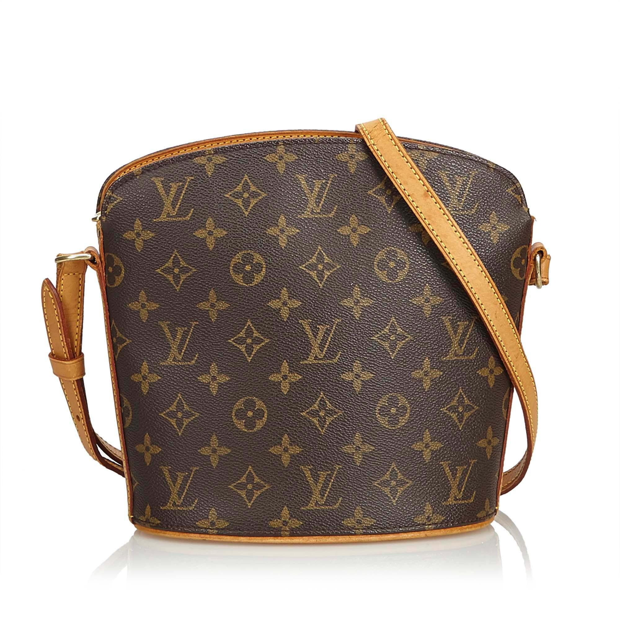 9c0aa2d3ce96 Lyst - Louis Vuitton Monogram Drouot in Brown