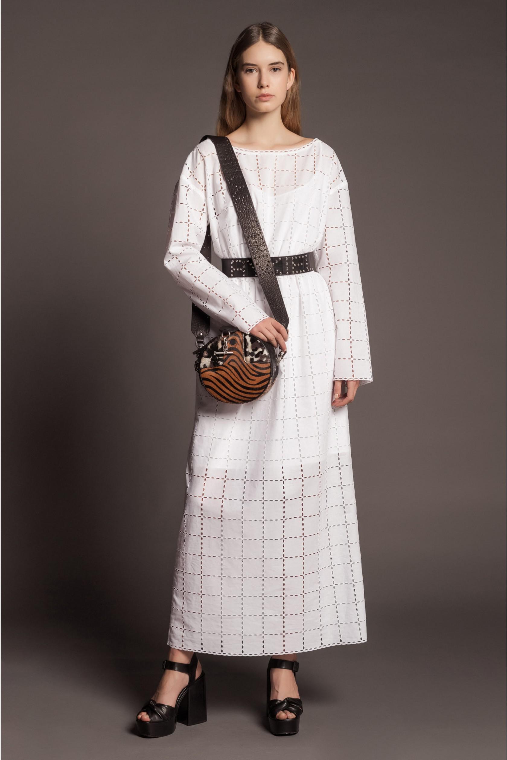 ecceb9aef38 Lyst - Sonia Rykiel Long Broderie Anglaise Dress