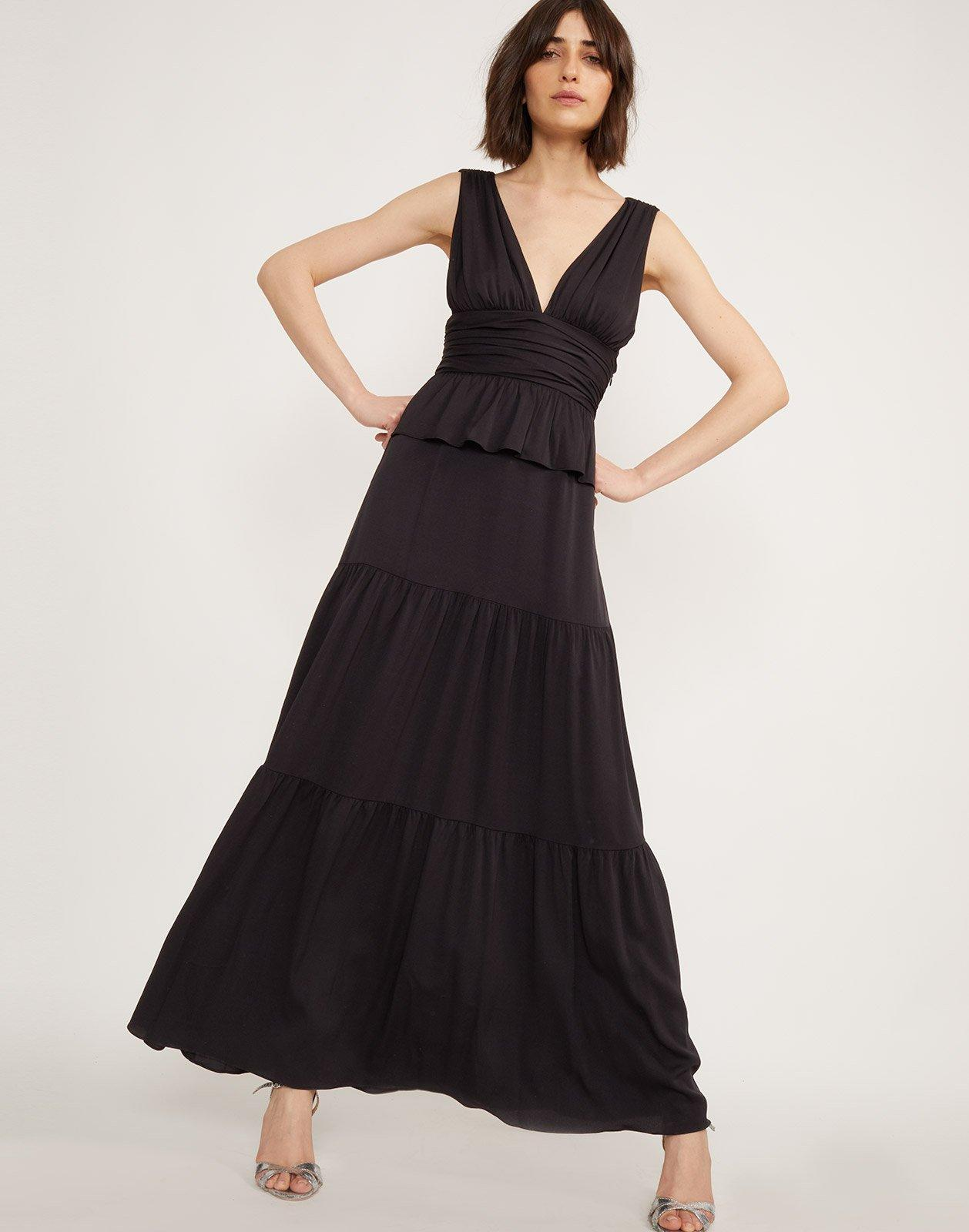 374200c47f Cynthia Rowley. Women s Black Zadie Tiered Maxi Dress.  474 From Orchard  Mile