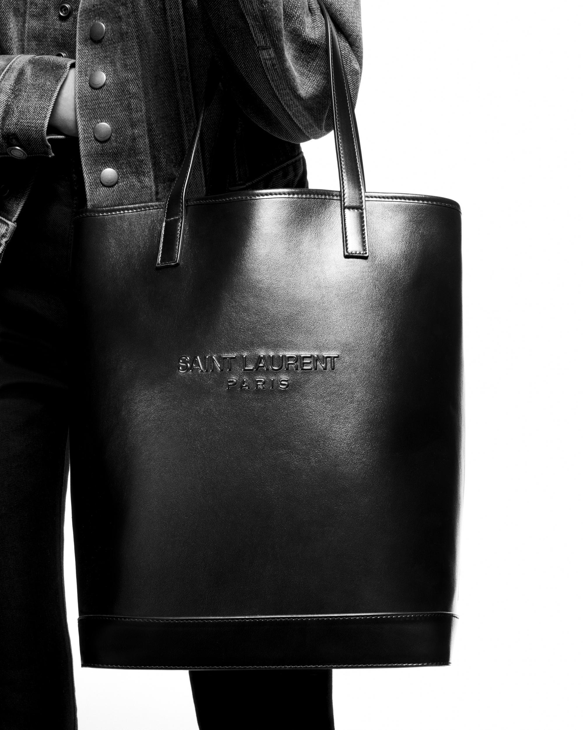 8b8df168f546 Lyst - Saint Laurent Teddy Shopping Bag in Black