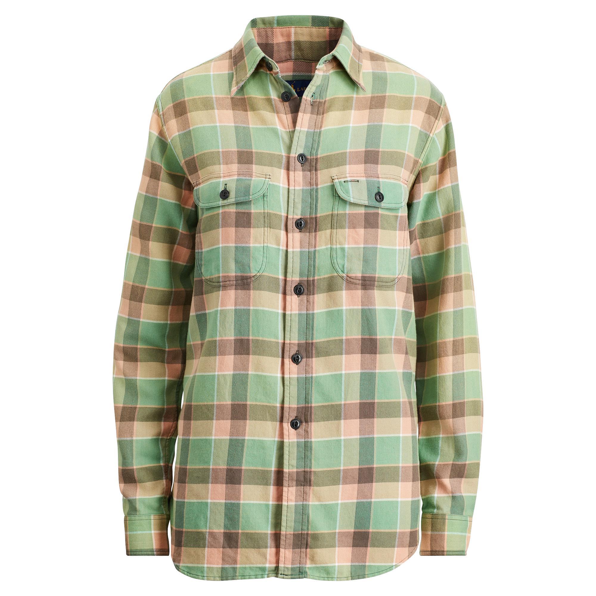 c2e2192b9 Ralph Lauren Collection Paxton Plaid Cotton Shirt in Green - Lyst