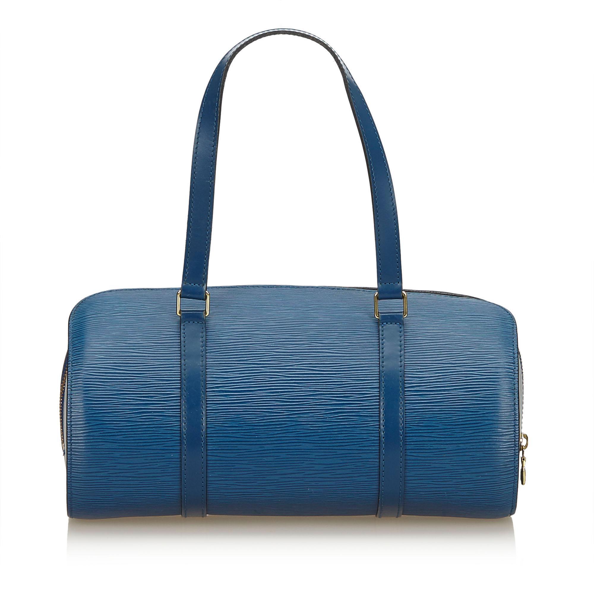 134d801e5ae Lyst - Louis Vuitton Epi Soufflot in Blue
