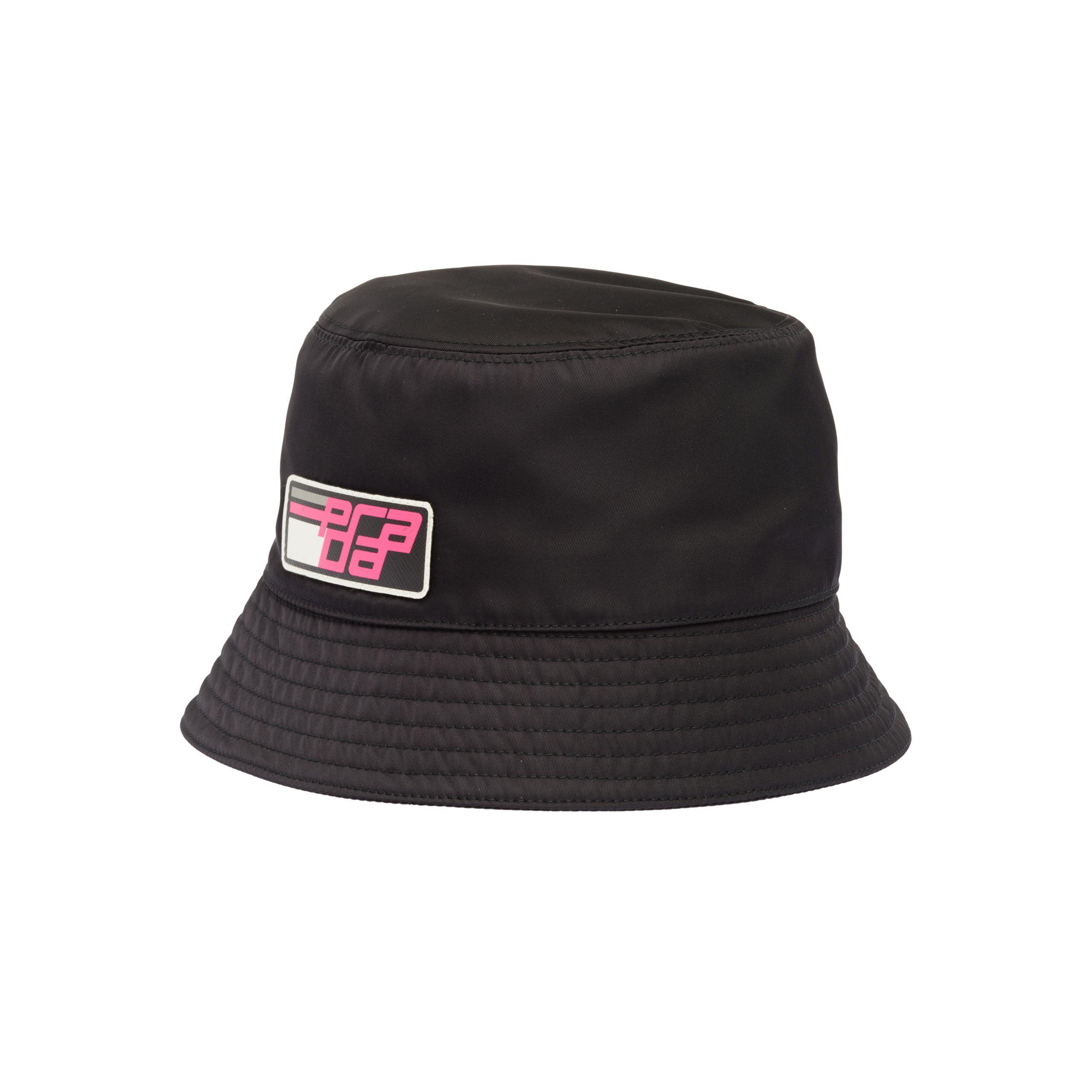 Prada - Black Nylon Cap With Logo - Lyst. View fullscreen 6720df82c2a0