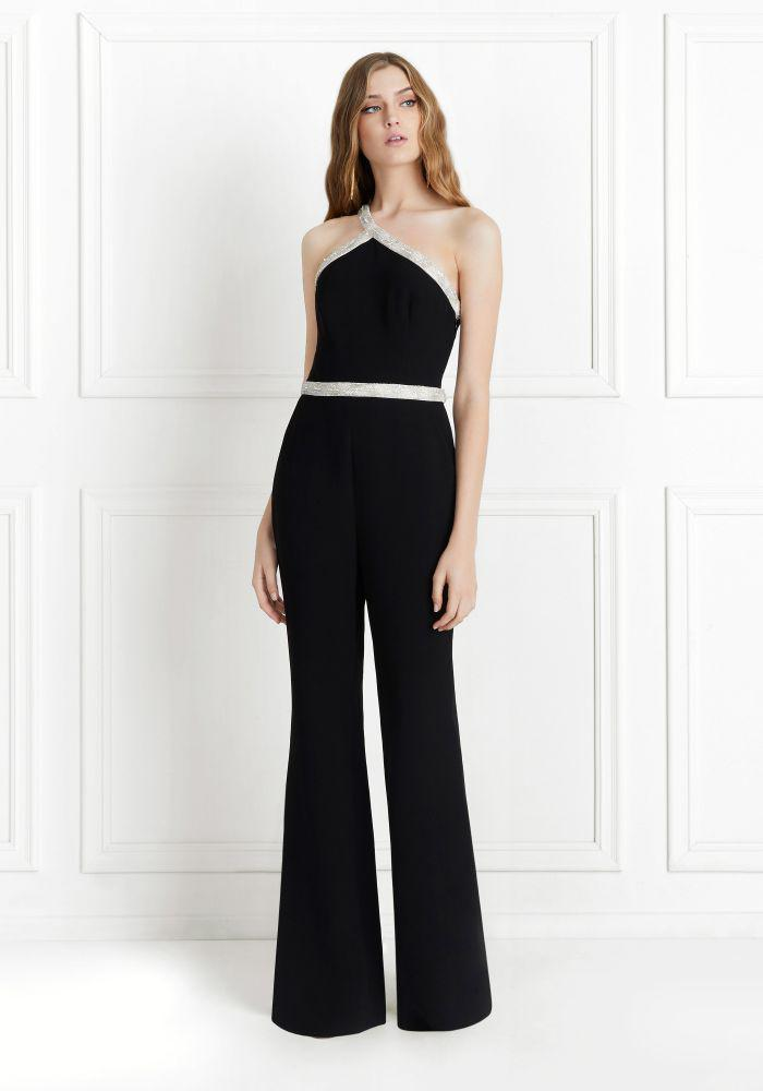 2f468a5f79d Lyst - Rachel Zoe Lucy Crystal-embellished One Shoulder Jumpsuit in ...