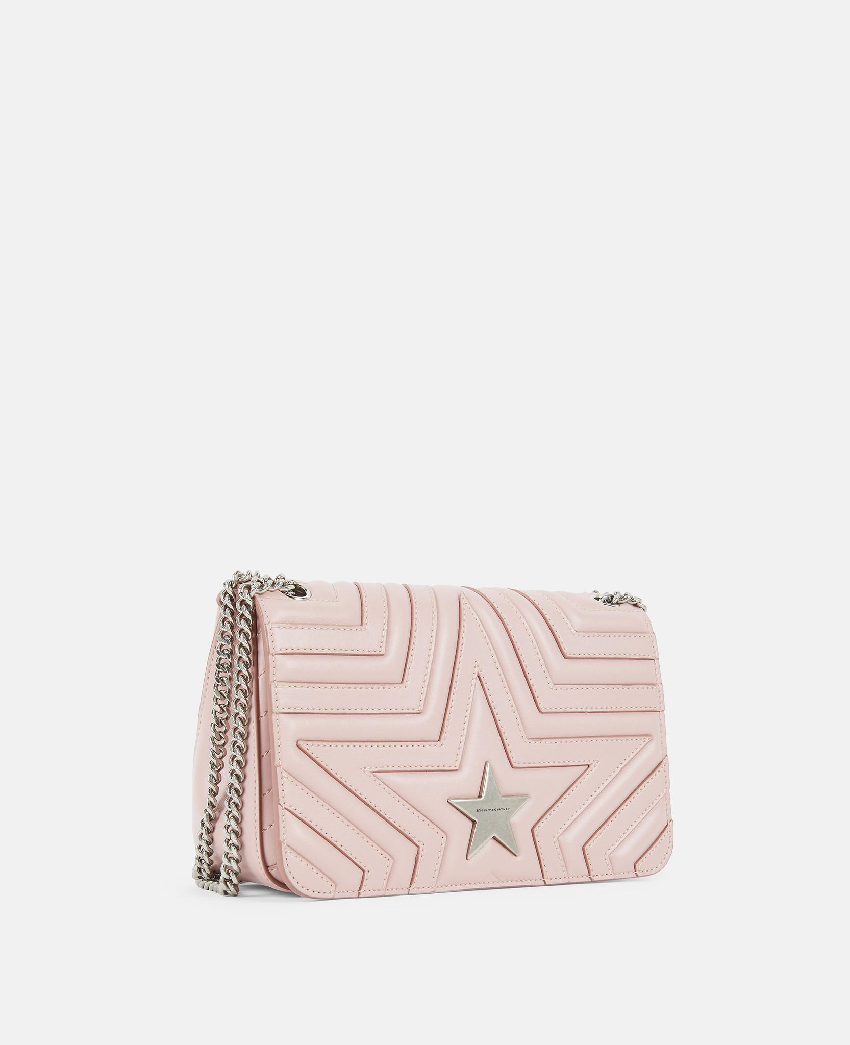 55ba429b3424a Lyst - Stella McCartney Stella Star Flap-over Shoulder Bag in Pink