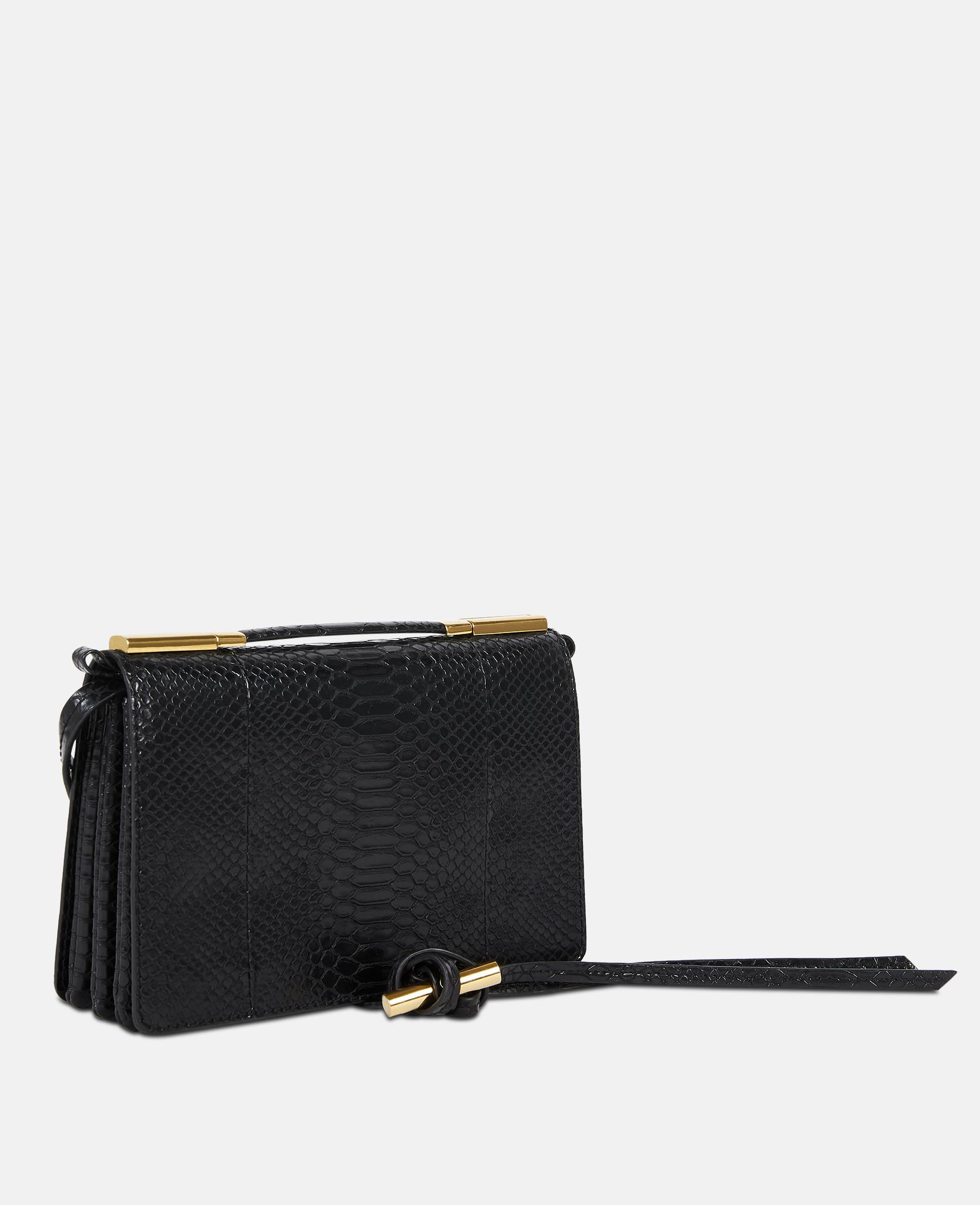 eacfec0c5101 Lyst - Stella McCartney Flo Small Shoulder Bag in Black