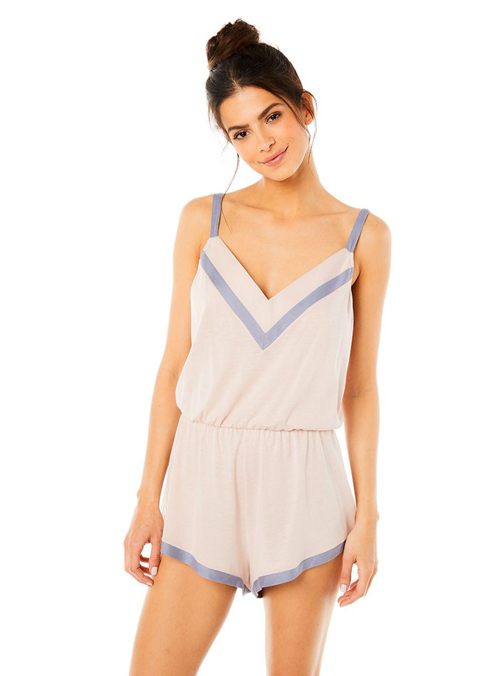 25d63456f6d3 Cosabella - Blue Bella Sleep Romper - Lyst. View fullscreen
