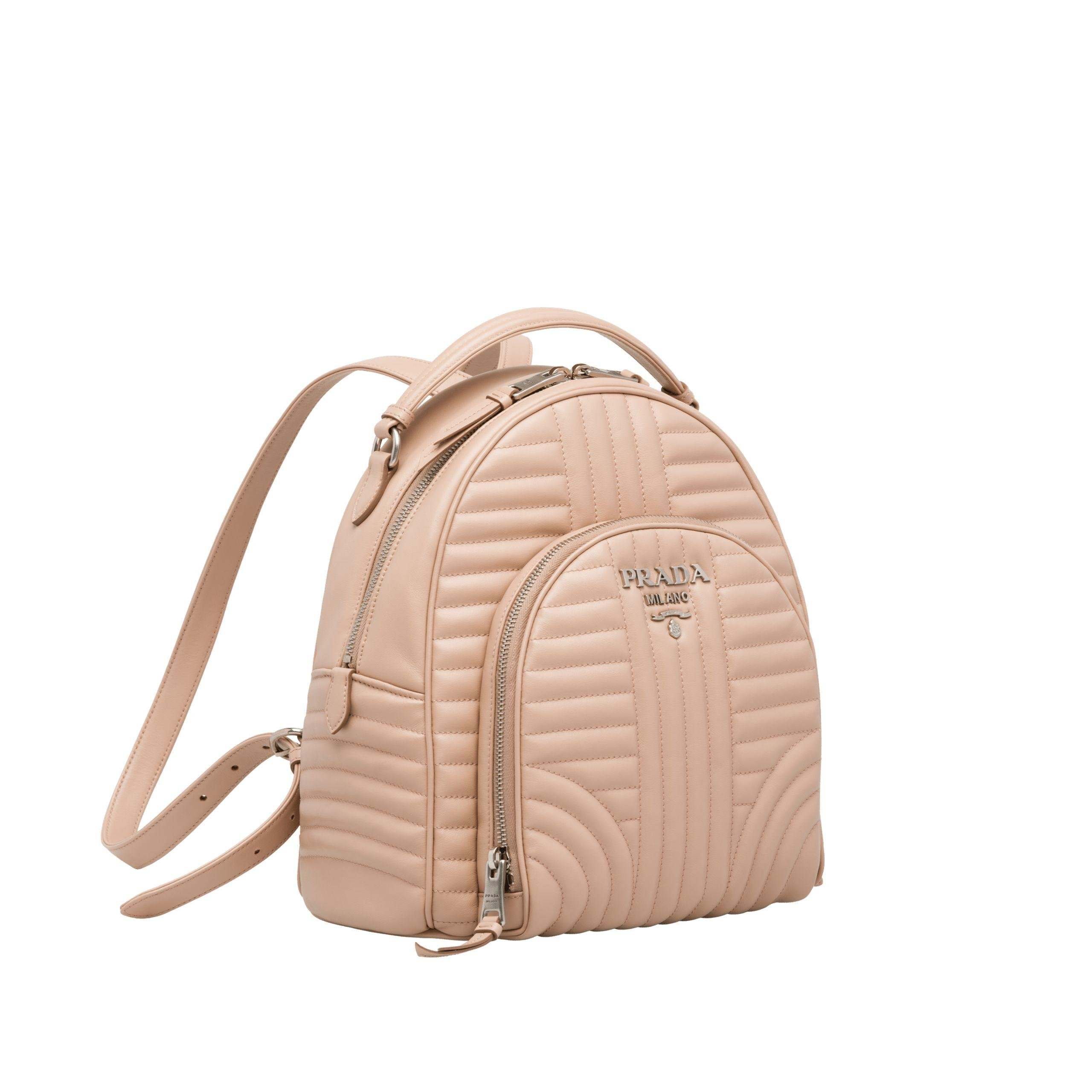 0280eabee6d94 Prada - Natural Diagramme Leather Backpack - Lyst. View fullscreen