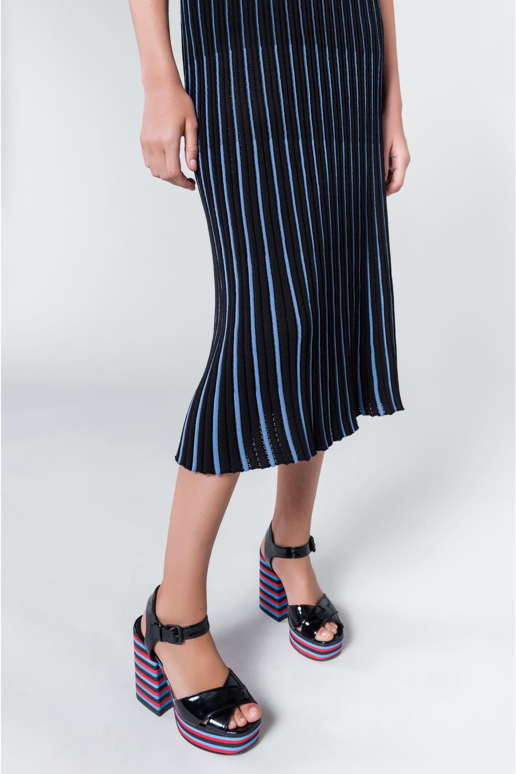 96db7d72d85 Sonia Rykiel - Blue Pleated Knit Maxi Skirt - Lyst. View fullscreen